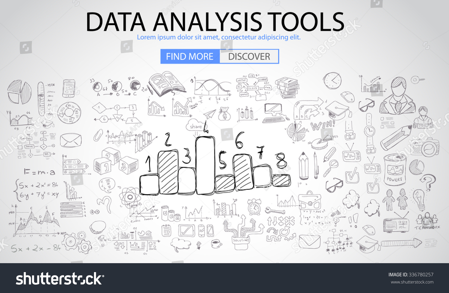 Data Analysis Tools Doodle Design Style Stock Vector 336780257 ...