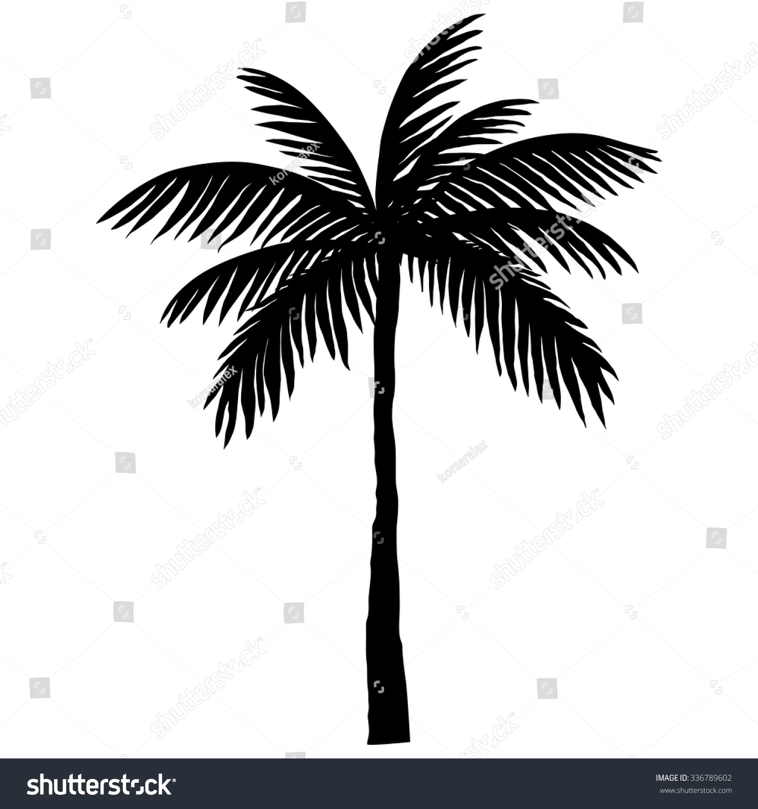 silhouette palm trees stock vector 336789602 shutterstock