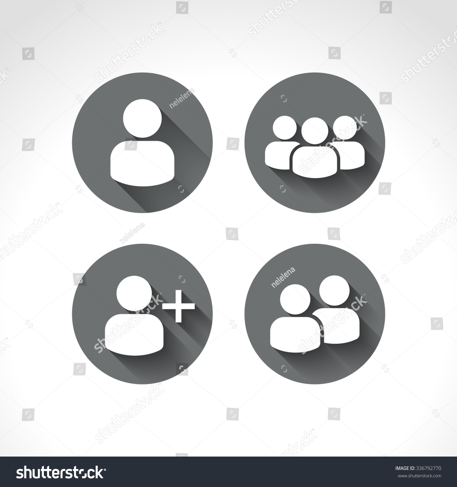 User Profile Group Set Icon Symbol Stock Vector Royalty Free