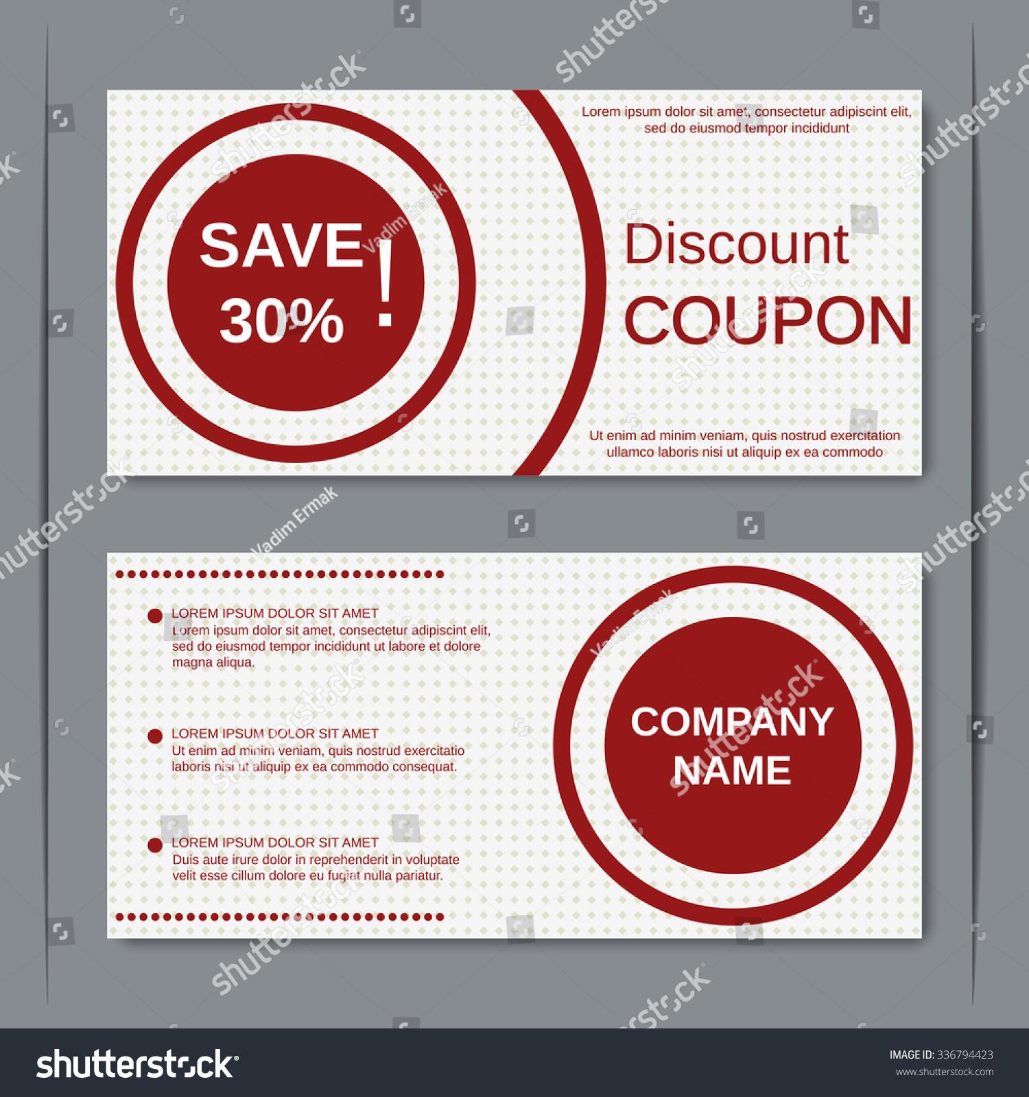 Discount Coupon Gift Voucher Gift Certificate Vector – Discount Voucher Design
