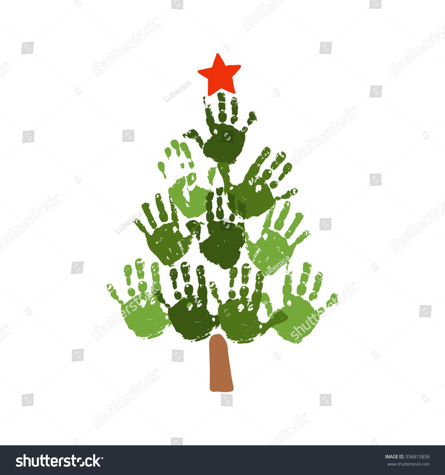Hand Print Christmas Tree