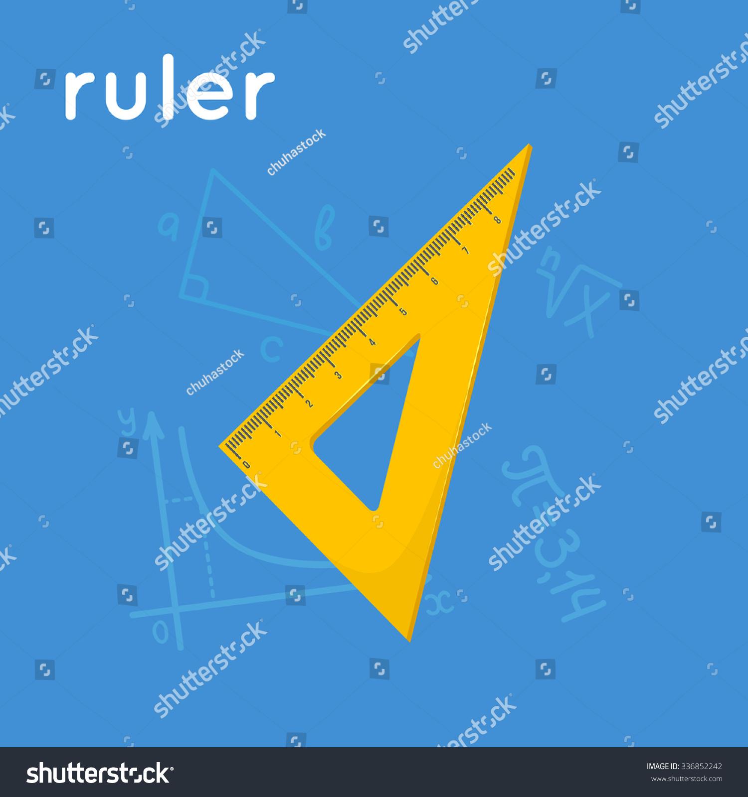 Yellow triangle ruler cartoon simple illustration stock vector yellow triangle ruler cartoon simple illustration vector geometrical instrument and word buycottarizona Images