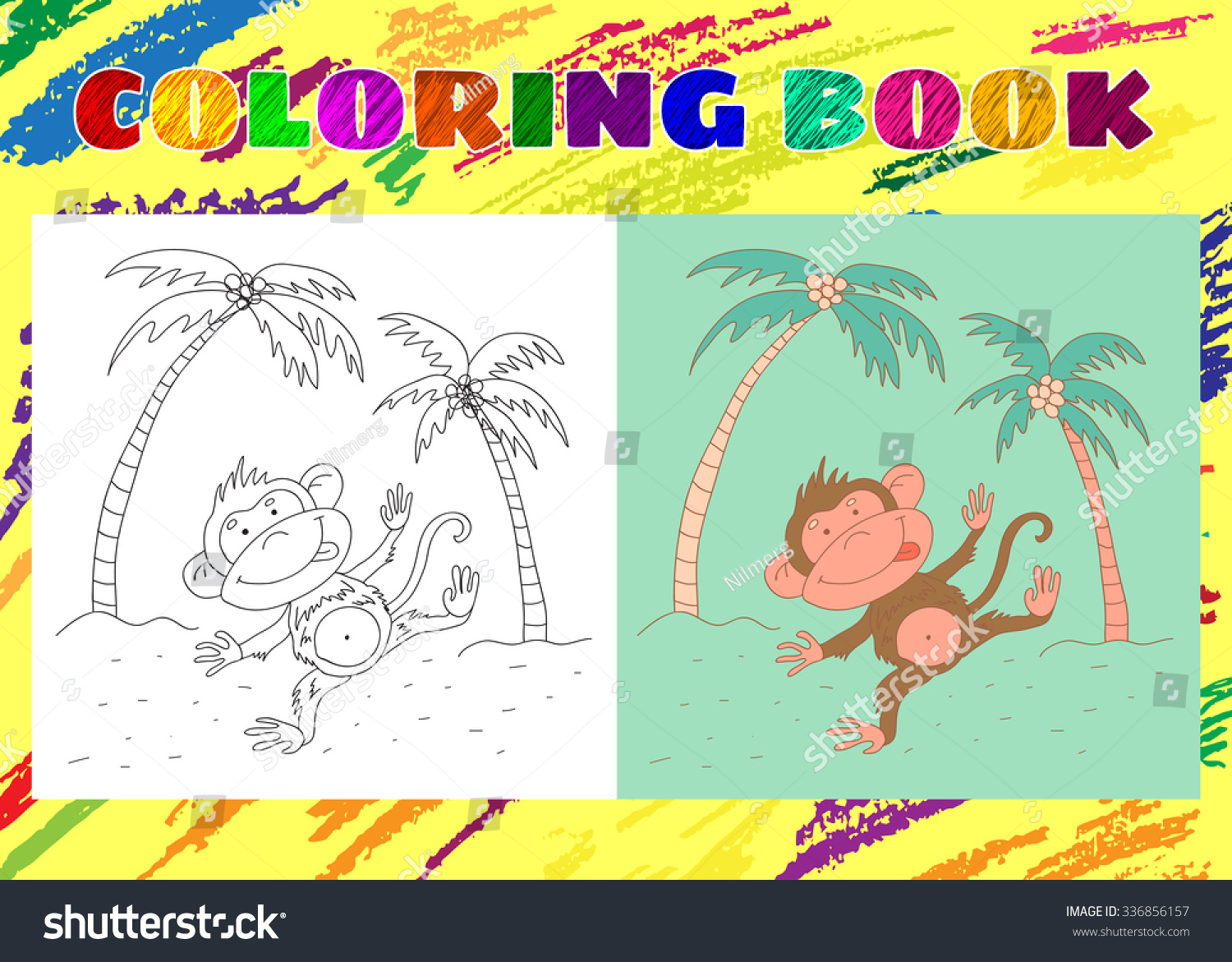 Coloring Book Kids Sketchy Little Pink Stock Vector (Royalty Free