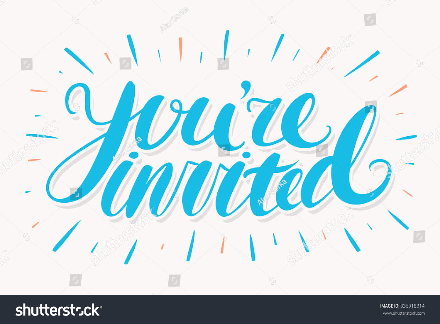 Youre Invited Invitation Card Stock Vector 336918314 ...