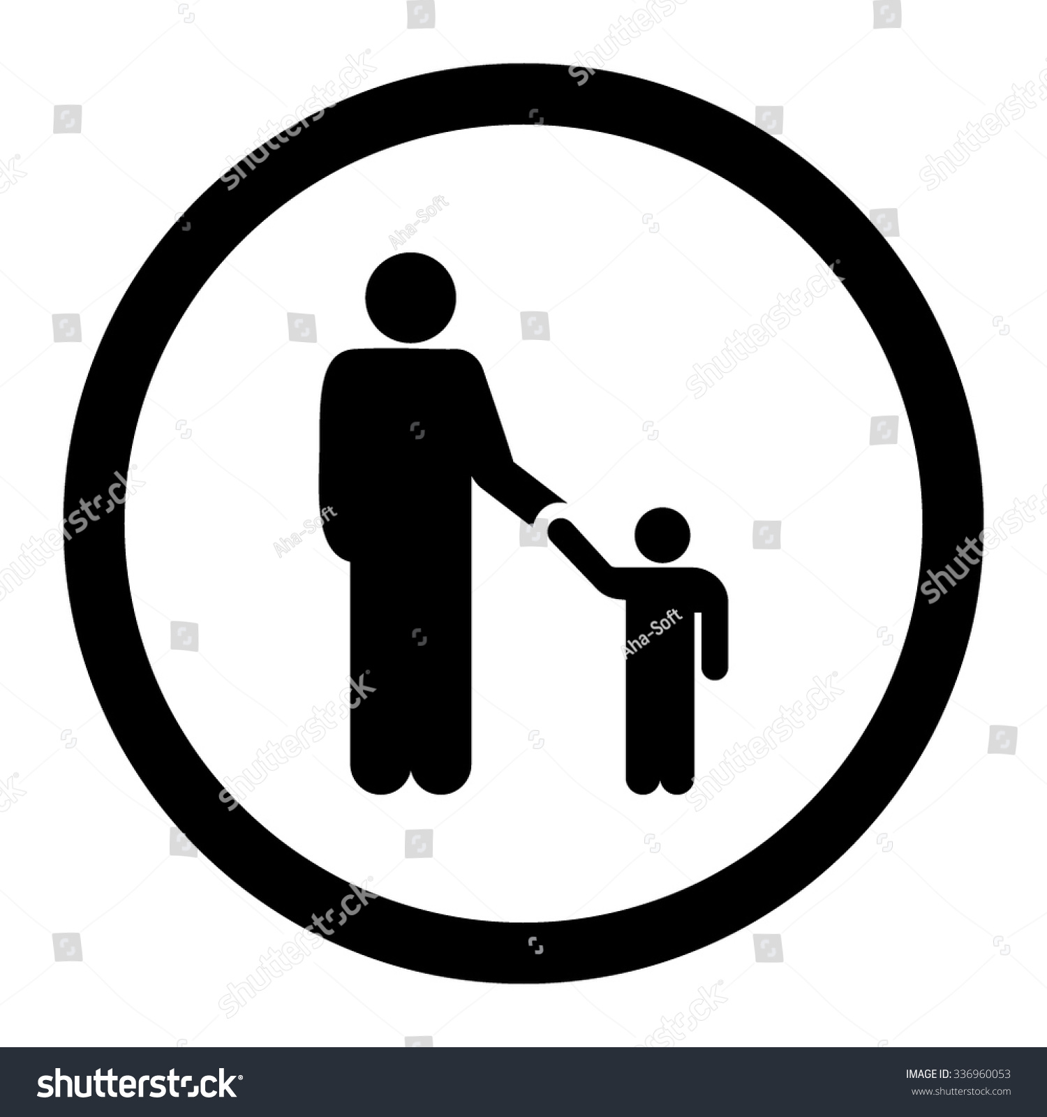 Father Son Vector Icon Style Flat Stock Vector Royalty Free