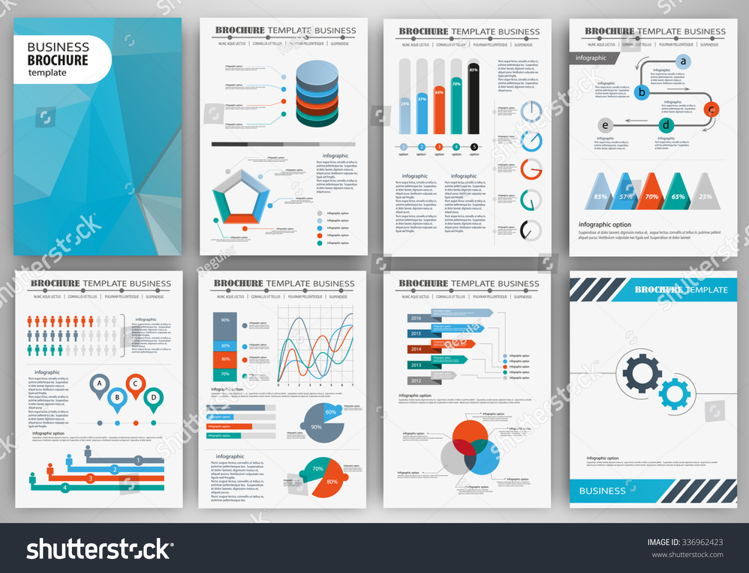 Infographic Brochure Elements Business Finance Visualization Stock ...
