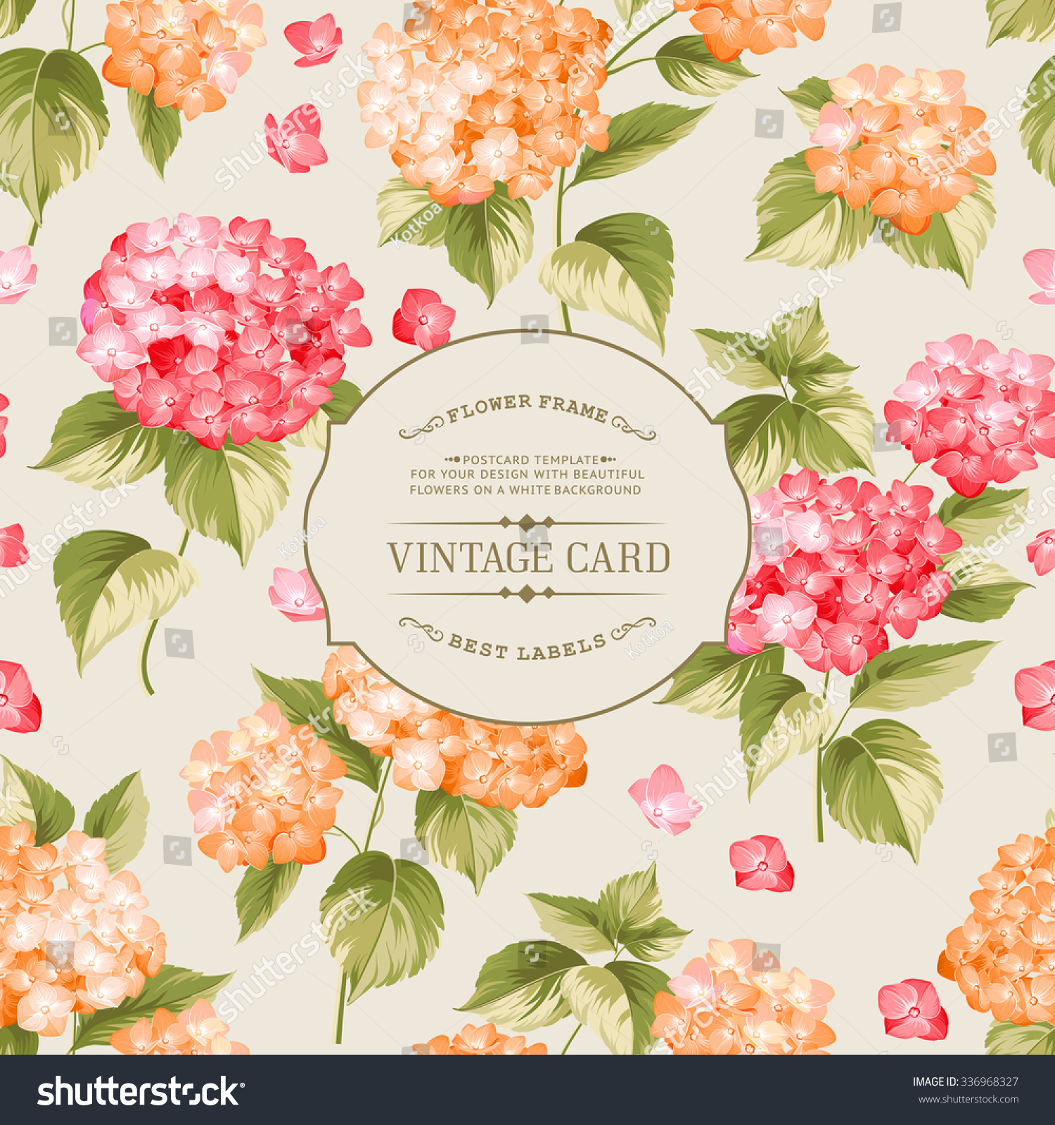 Vintage Flower Book Cover : Vintage floral label elegant book cover stock vector