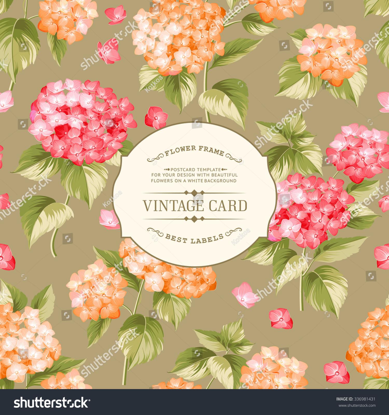 Book Cover Flower : Vintage floral label elegant book cover stock vector