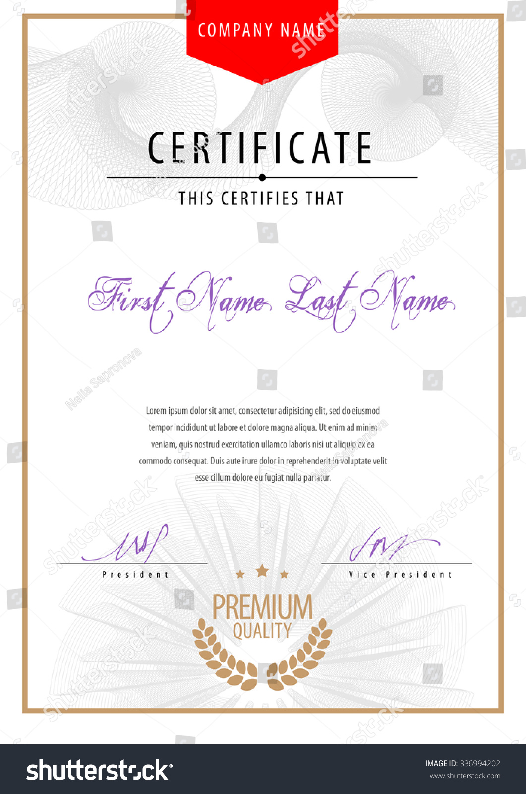 Modern certificate template diplomas currency mockup stock vector modern certificate template diplomas currency mockup for your design vector illustration alramifo Image collections