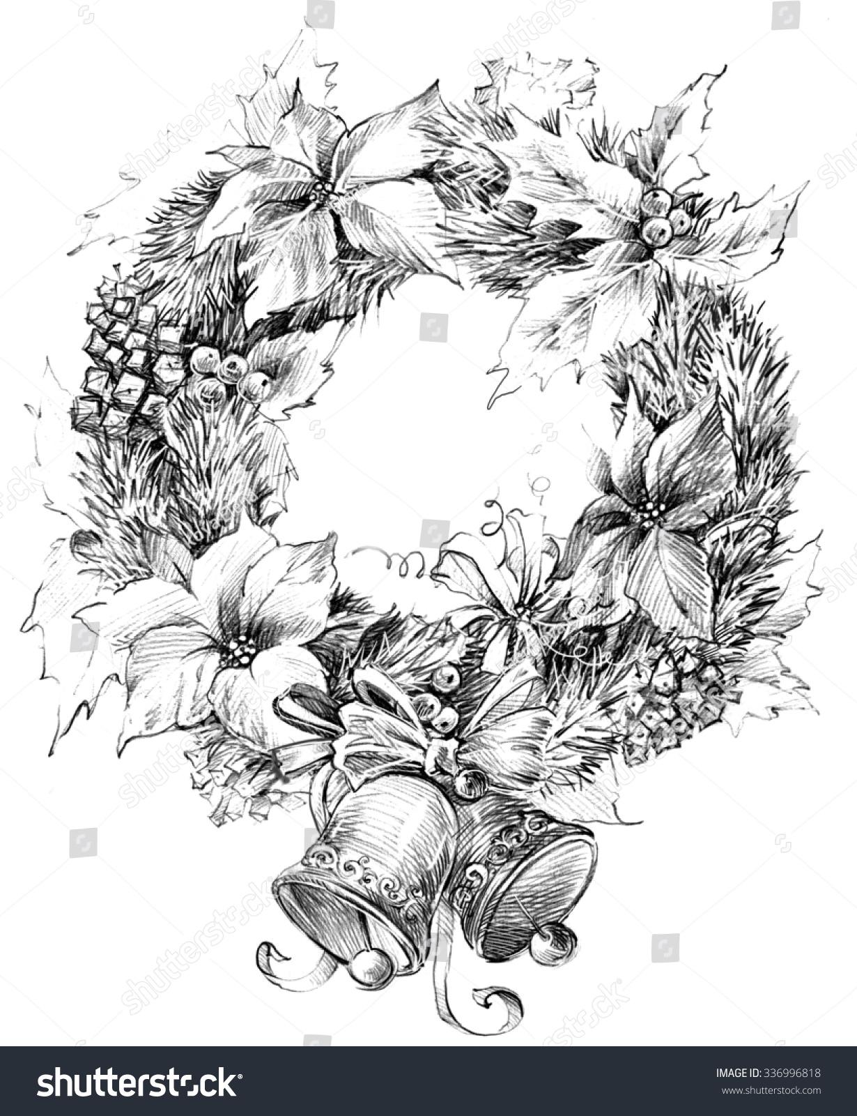 christmas wreath christmas tree christmas flower stock