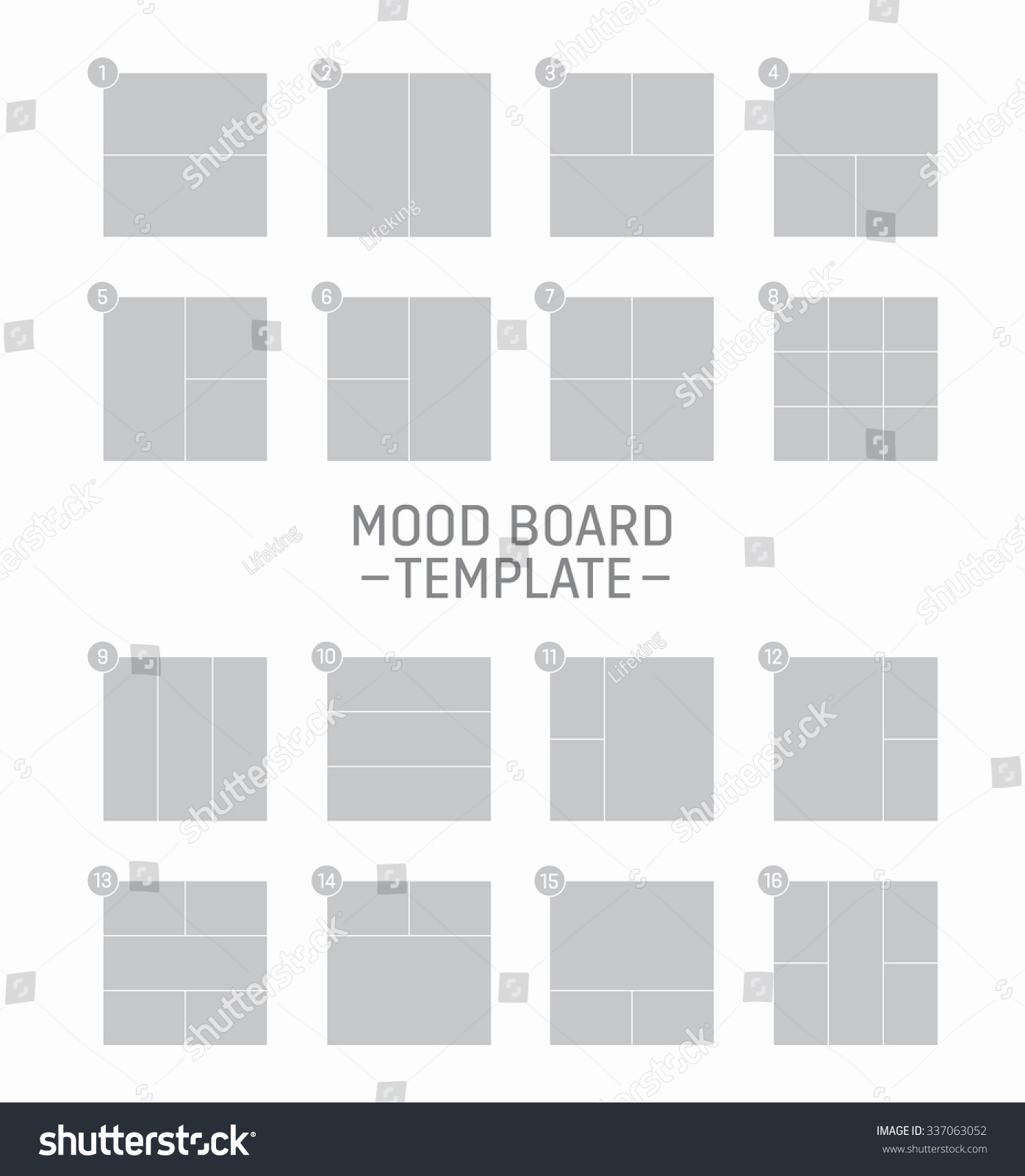 fashion mood board template - vector mood board template stock vector 337063052