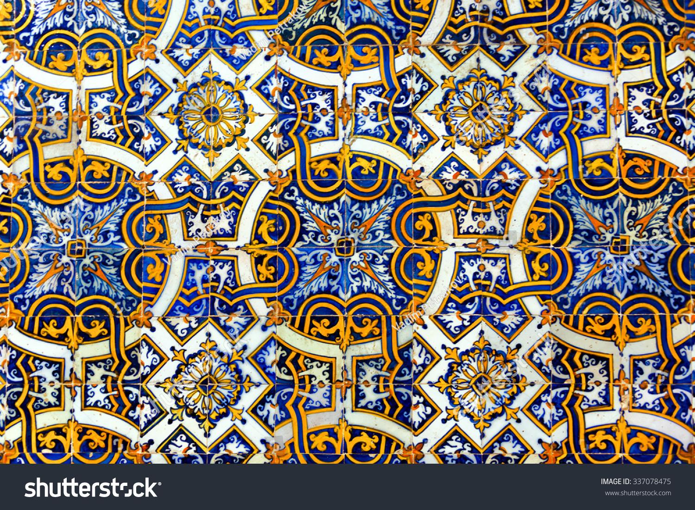 Vintage azulejos ancient tiles old university stock photo 337078475 shutterstock - Azulejos vintage ...