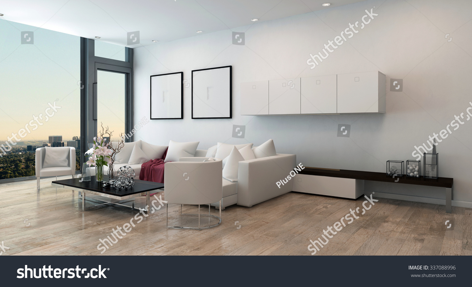Architectural Interior Open Concept Apartment High Stock ...