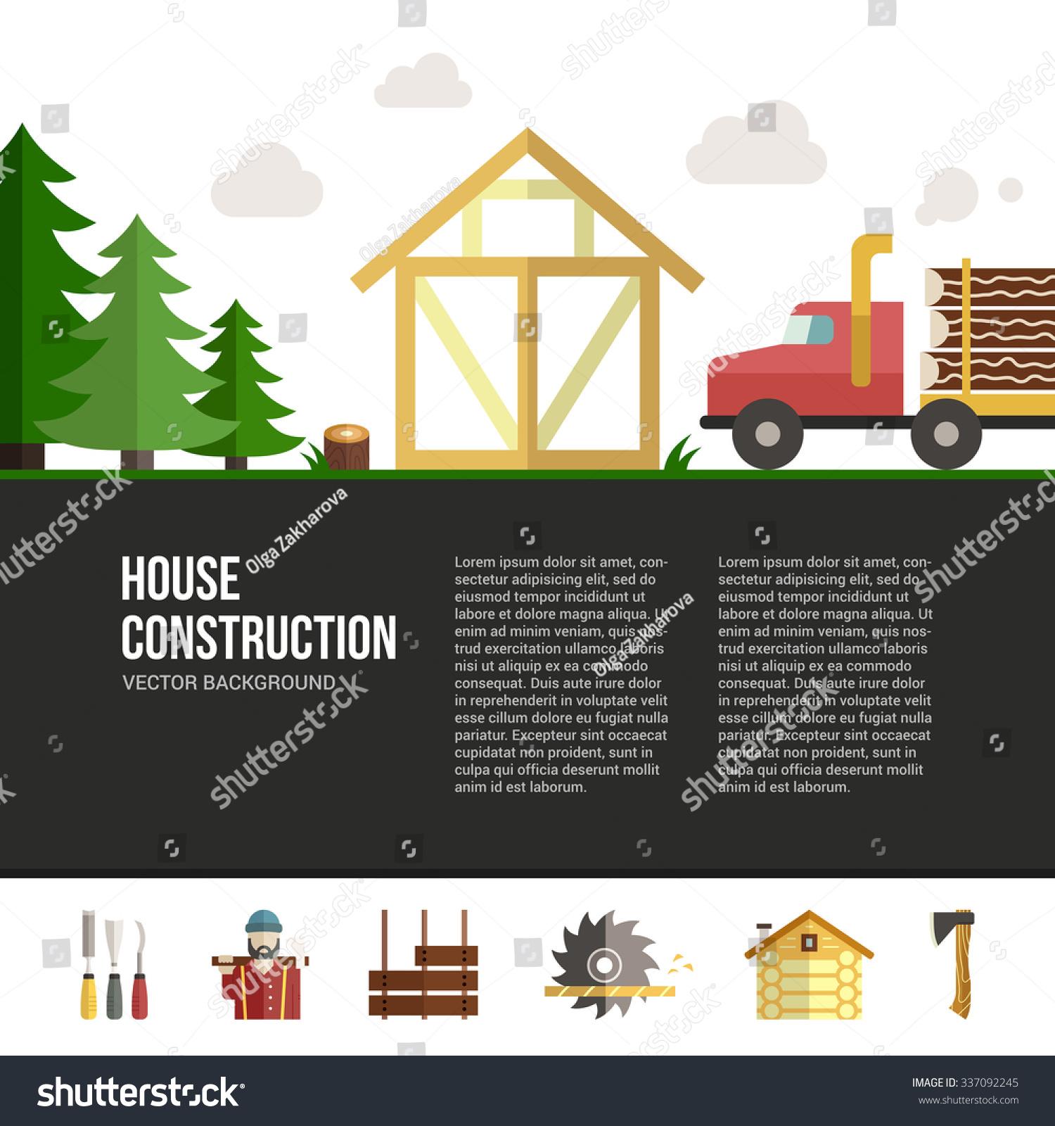 Easy Edit Vector Template Woodwork Industry Stock Vector 337092245 ...