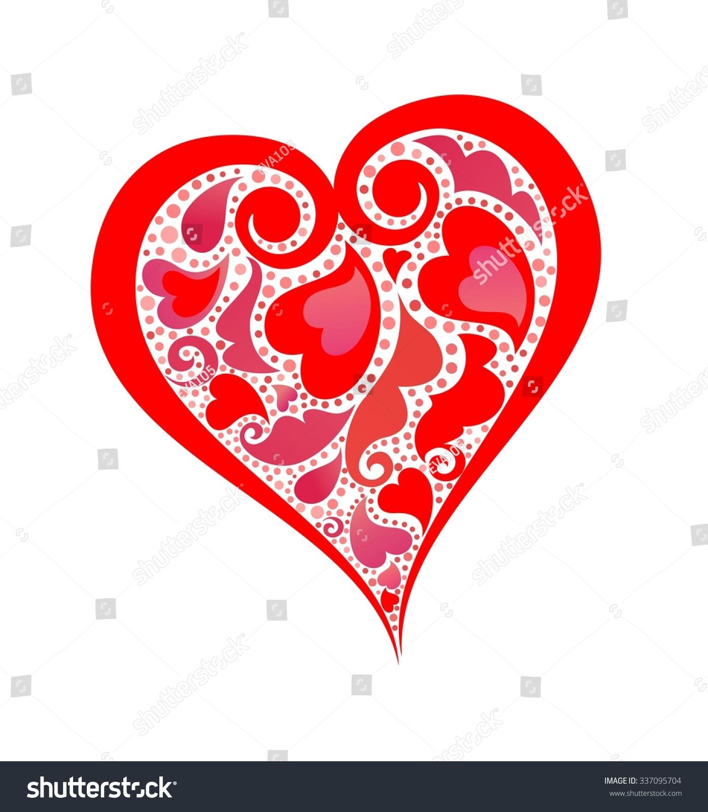 Vector heart template