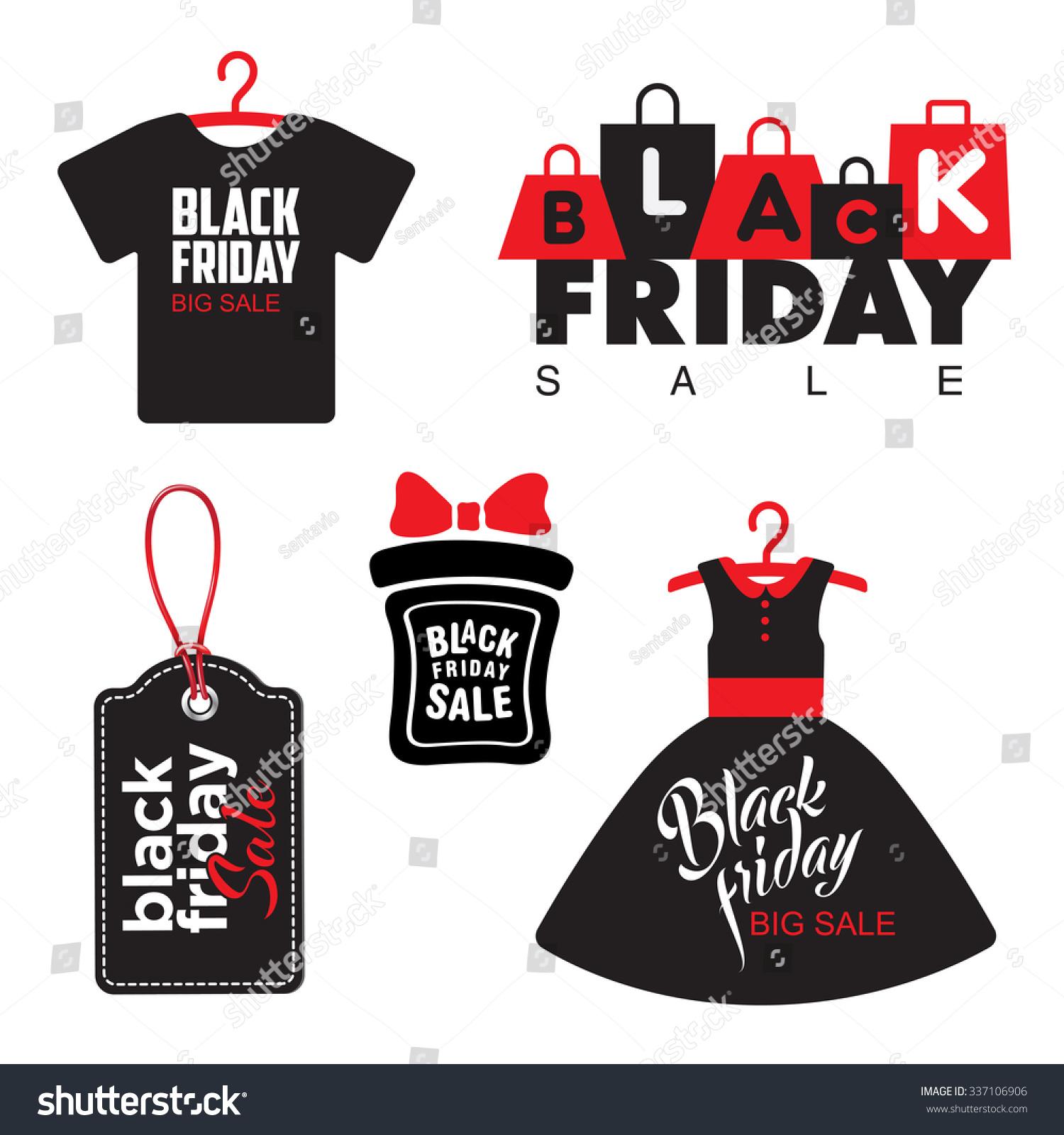 Black Friday Sale Badges Labels Vector Stock Vector
