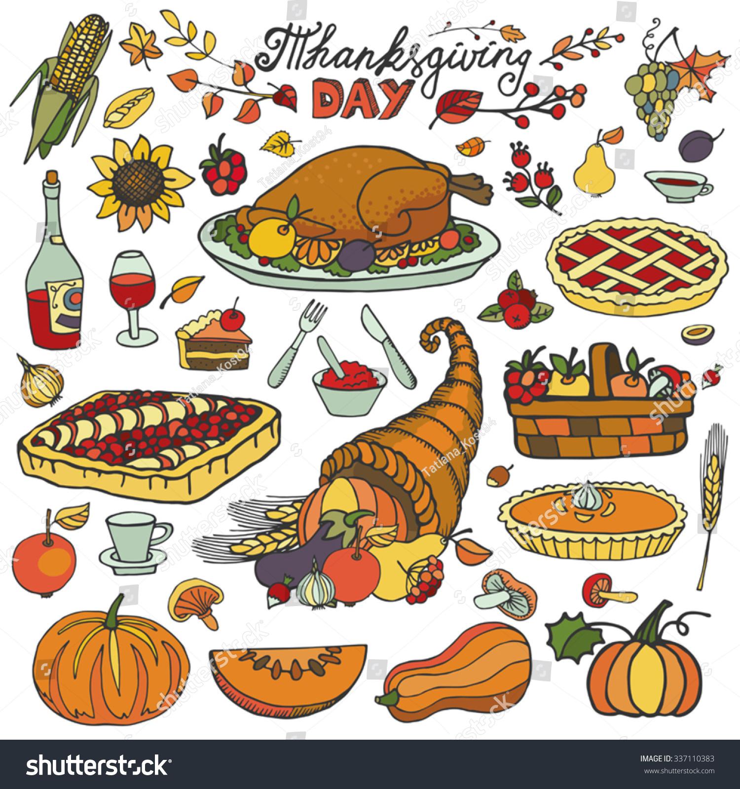 Thanksgiving turkey dinner drawing - photo#19