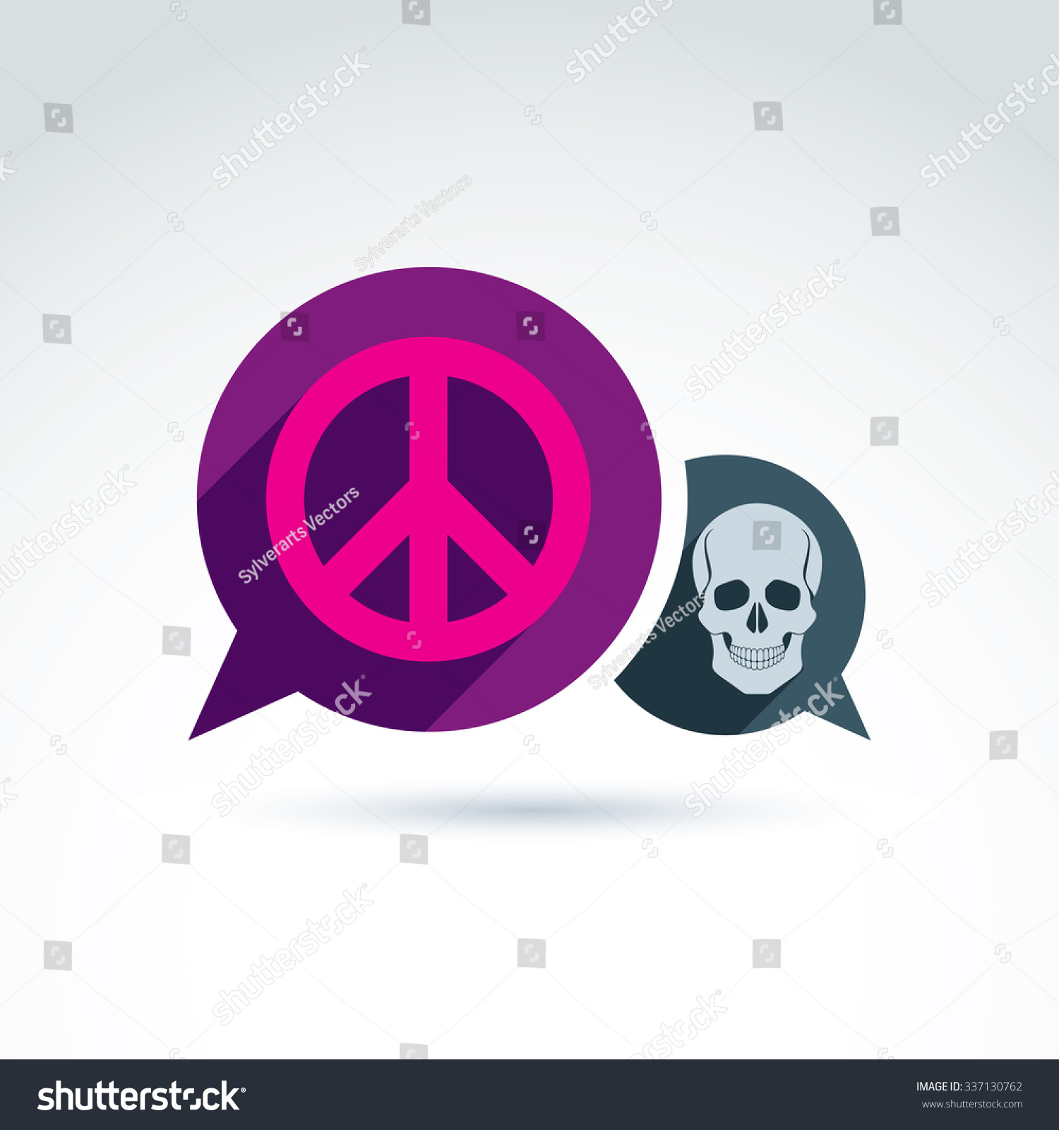 Peace against war icon death skull stock vector 337130762 shutterstock peace against war icon with death skull vector conceptual unusual symbol for your design biocorpaavc Images