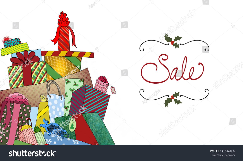 Cute Sale Ad Background Fun Pile Stock Illustration 337267886 ...