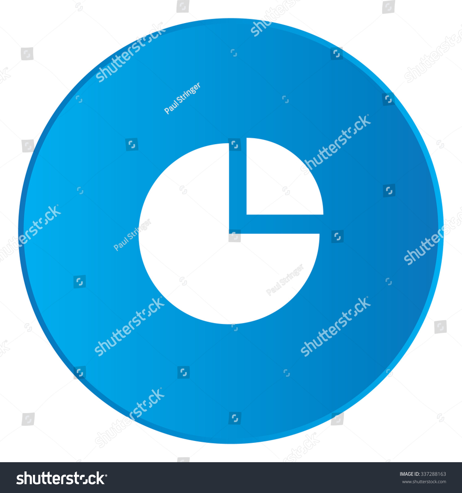 White icon isolated on blue button stock illustration 337288163 a white icon isolated on a blue button pie chart exploded nvjuhfo Image collections