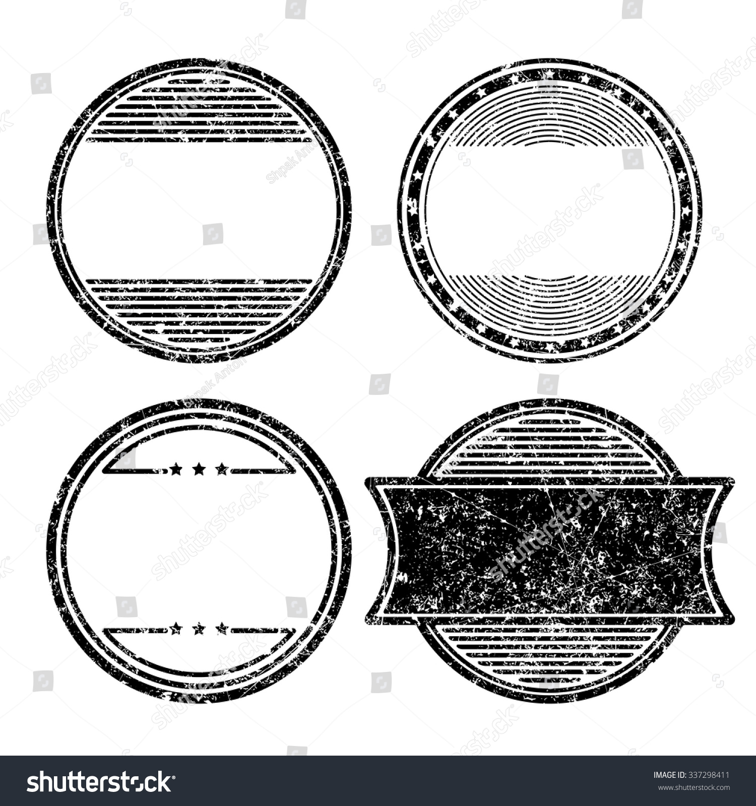 set four grunge templates rubber stamps stock vector royalty free