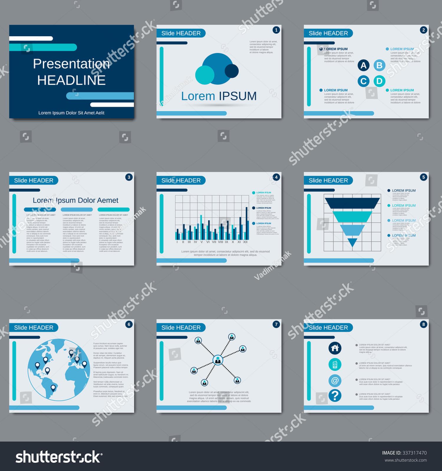 Business Presentation Slide Show Brochure Booklet Stock Vector ...