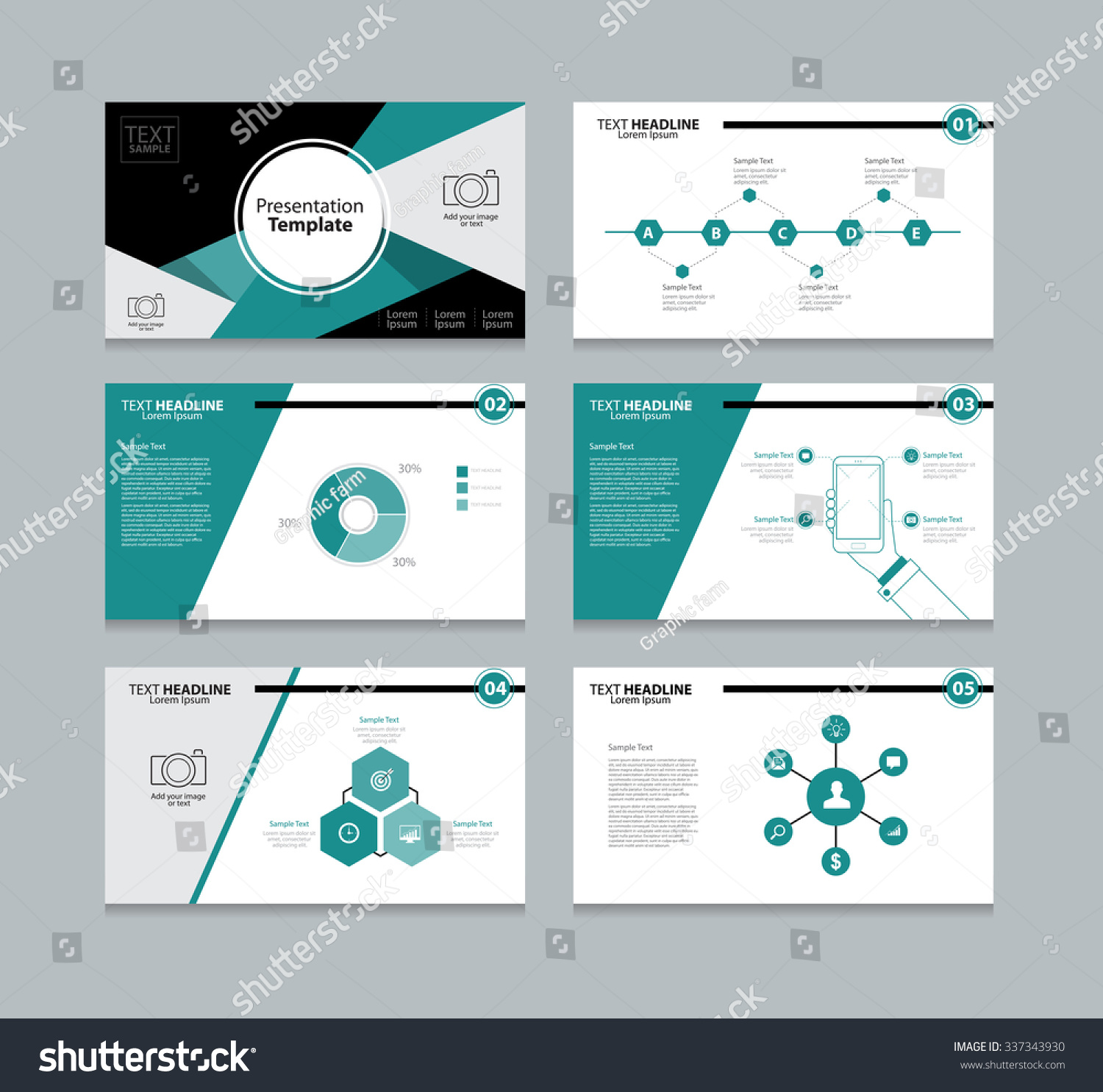 abstract vector business presentation template slides background design info graphic