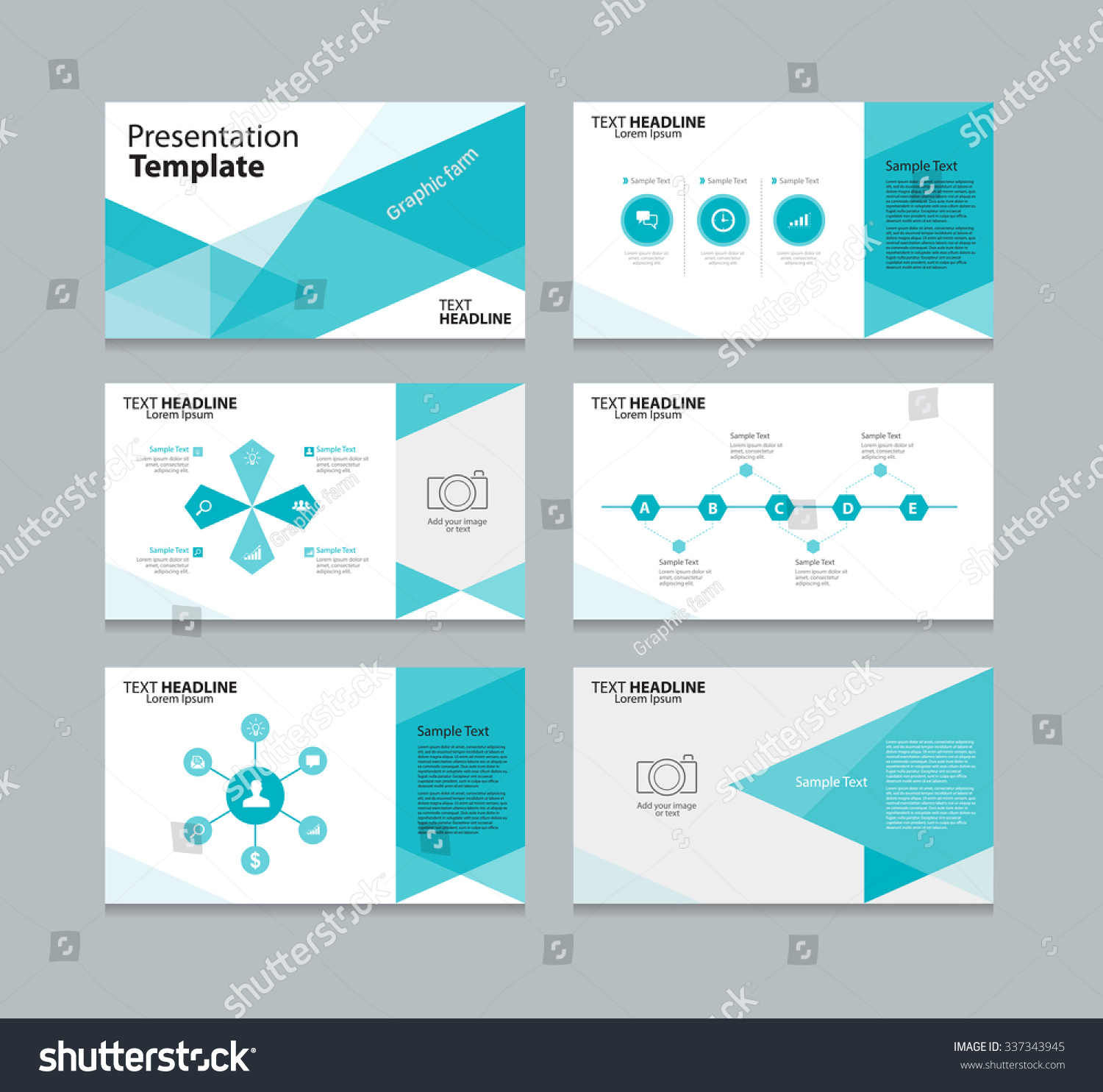 abstract vector business presentation template slides のベクター
