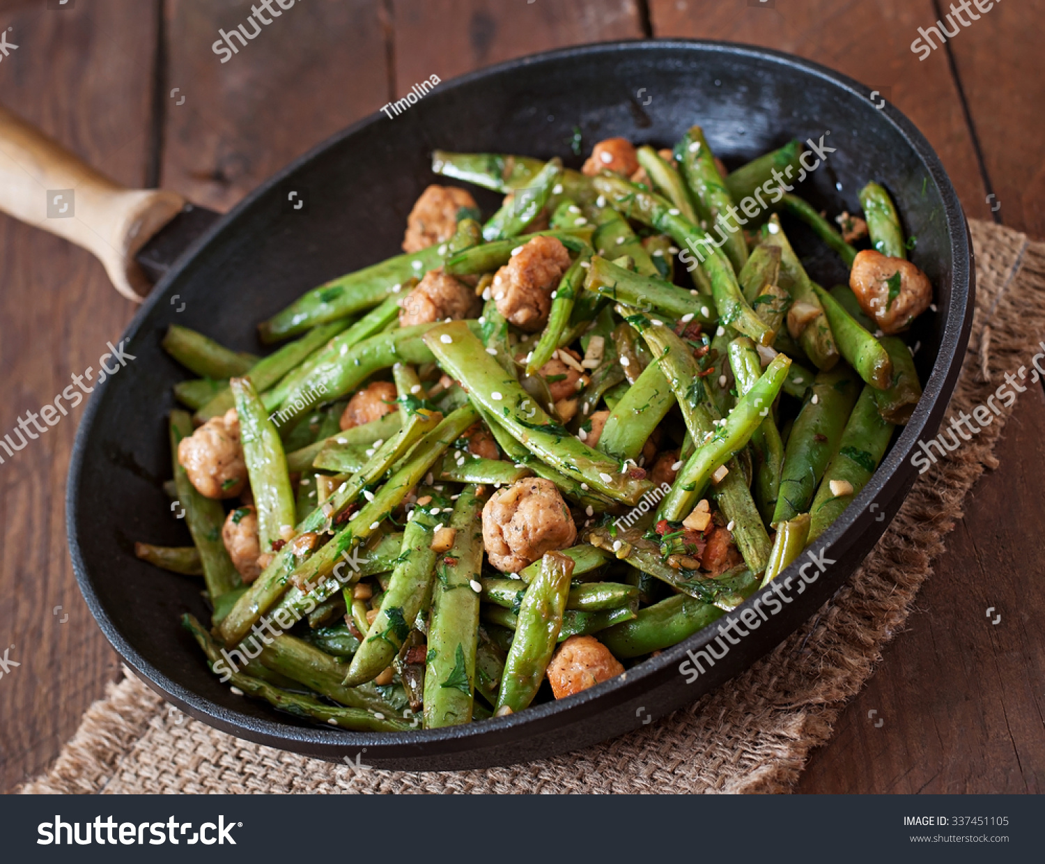 Green Bean and Meatball Stir-Fry recommend