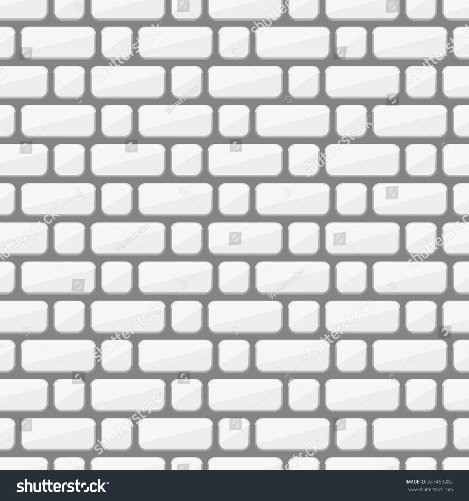 White Brick Wall Vector Stacking