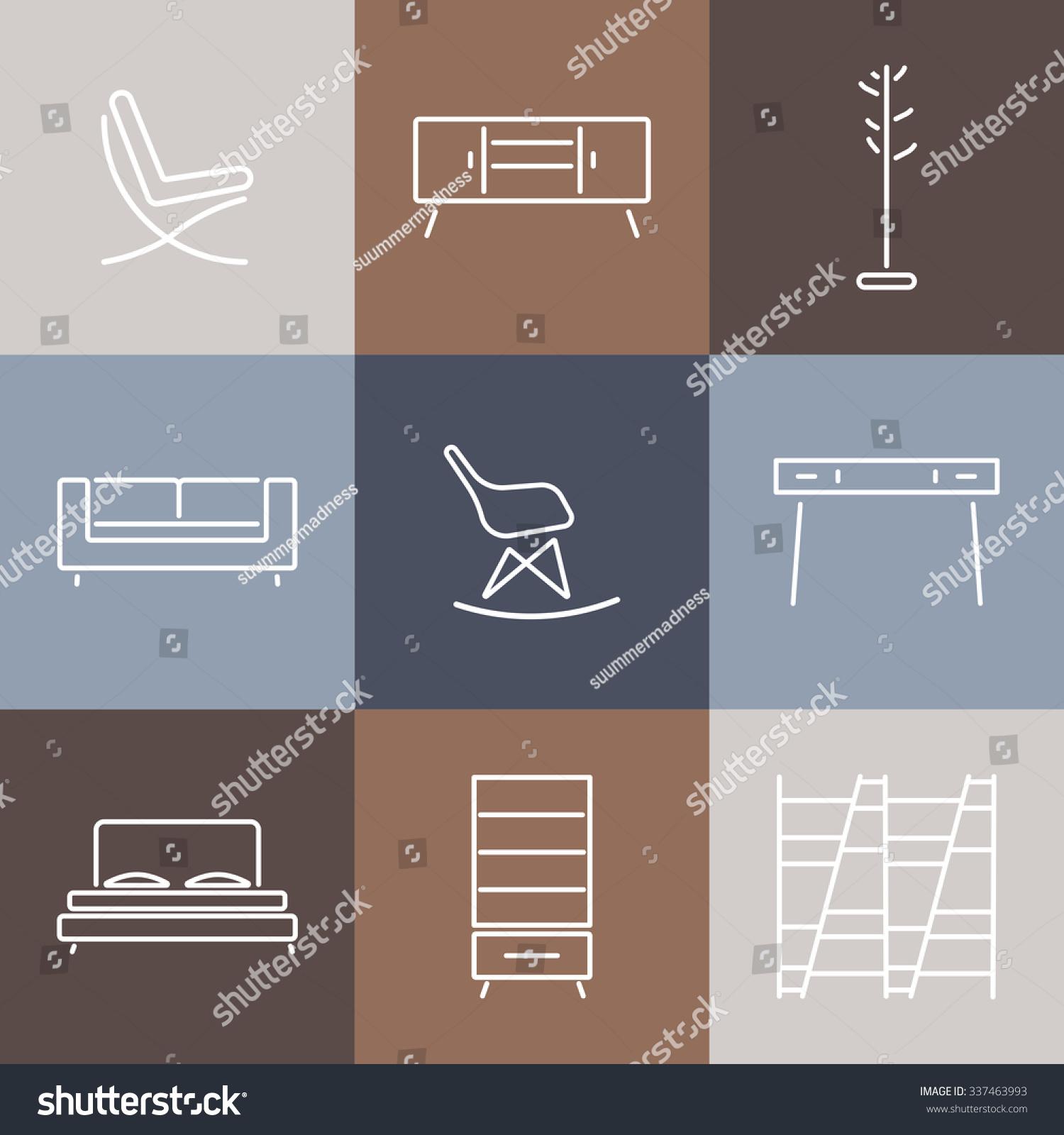 Seamless pattern modern furnituretemplate design for Modern furniture catalog
