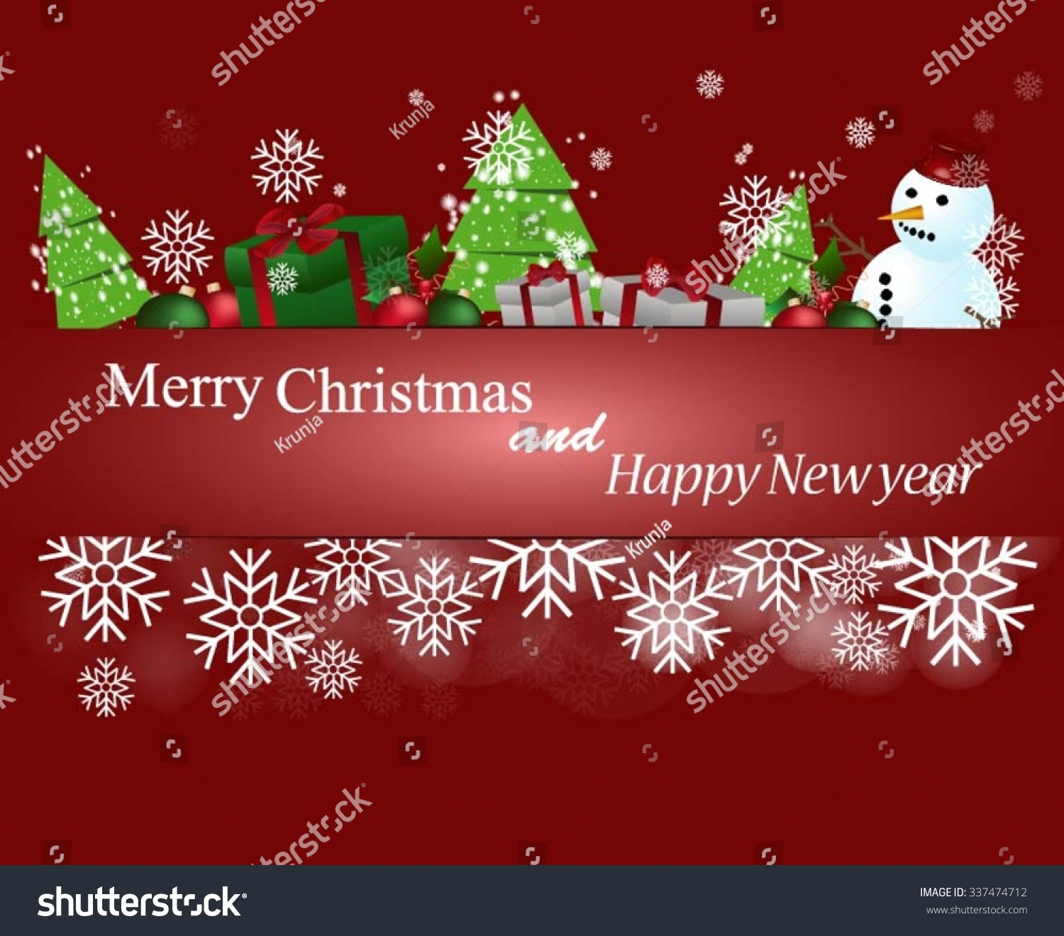 Merry christmas happy new year card stock vector royalty free merry christmas and happy new year card m4hsunfo