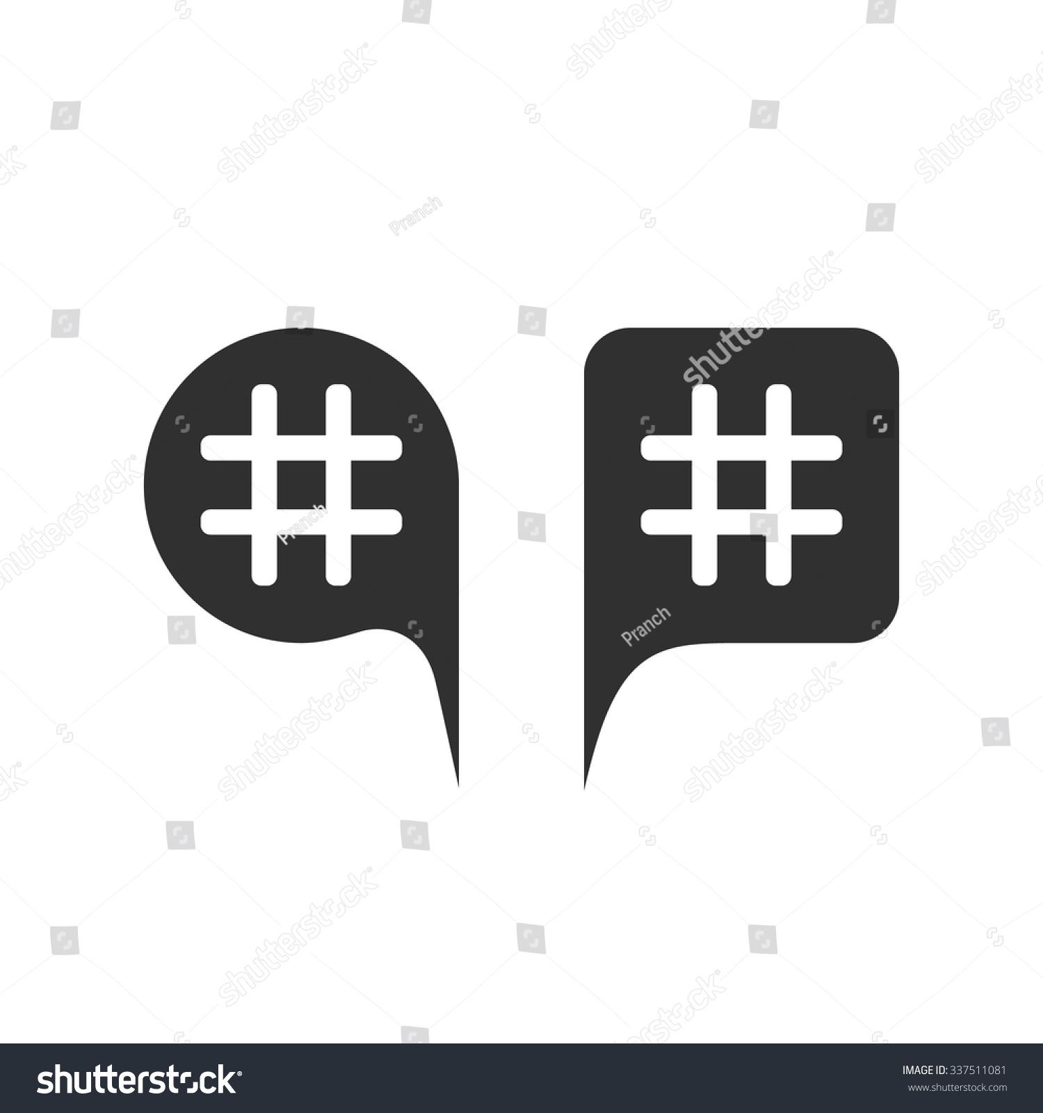 Hashtag Black Speech Bubbles Concept Micro Stock Vector 337511081