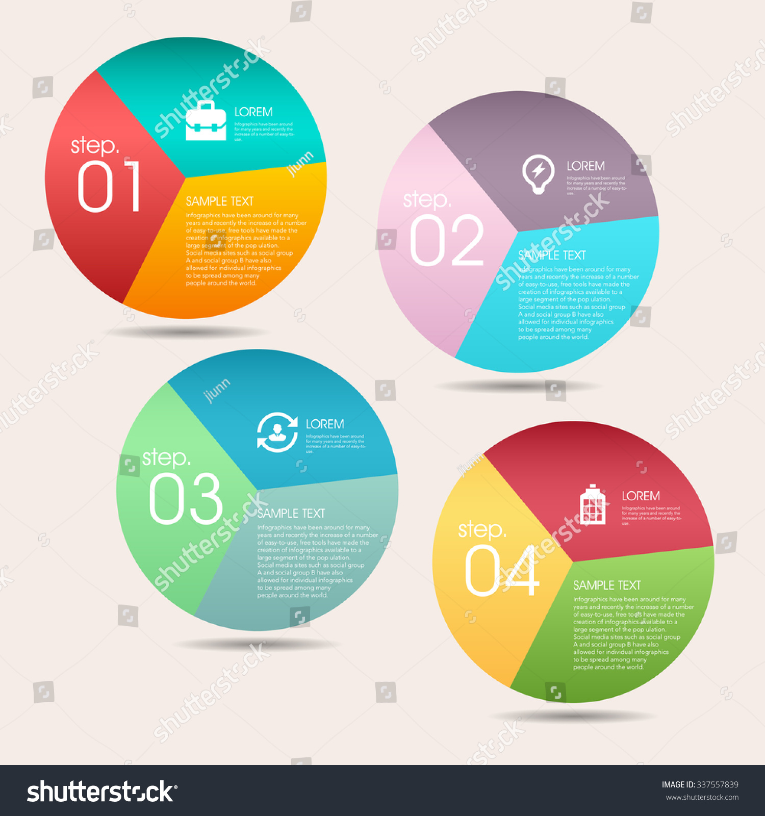 Modern Vector Abstract Pie Chart Infographic Stock Royalty Diagram Elementscan Be Used For Workflow Layout