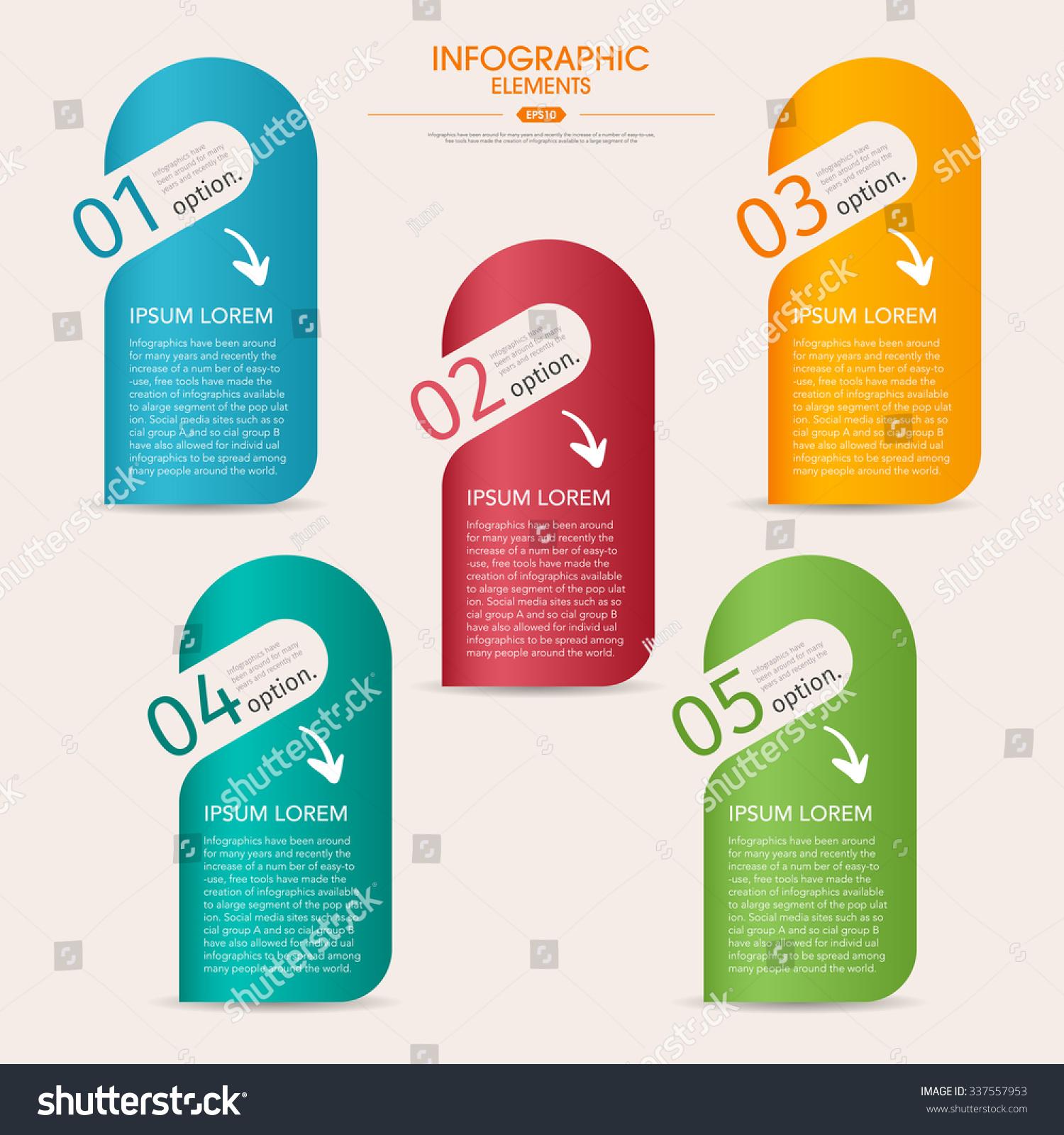 3d brochure template - vector 3d step label infographic design stock vector