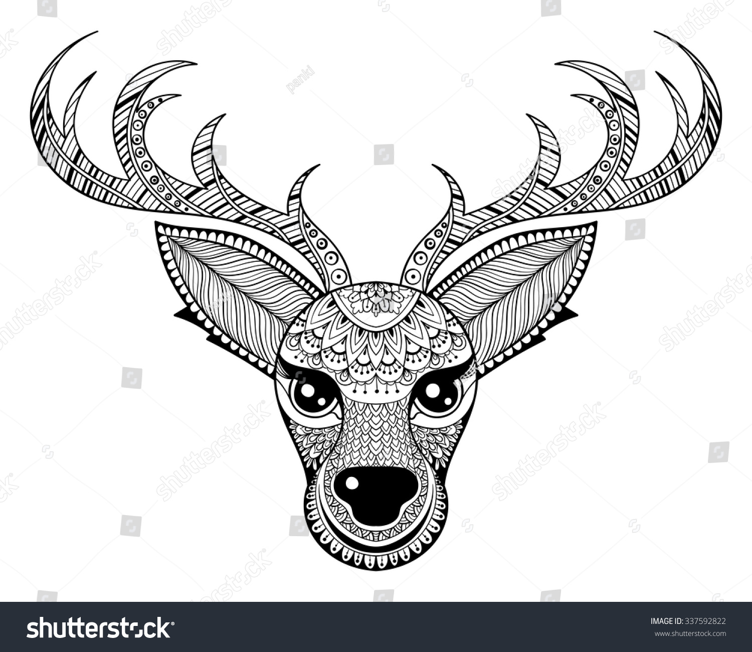 tribal animal coloring pages - photo#36