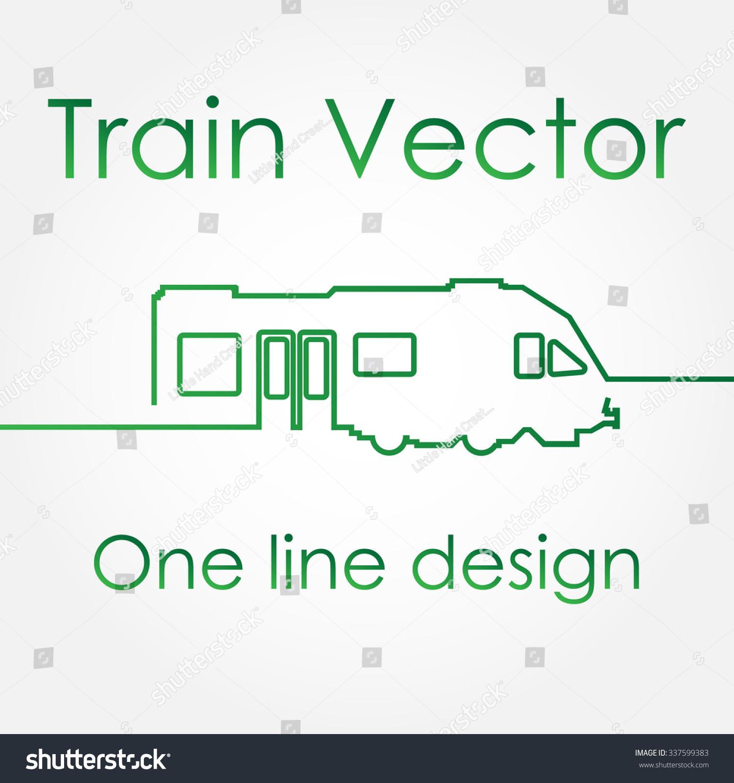 One Line Design Modern Train Vector Stock Vector Royalty Free