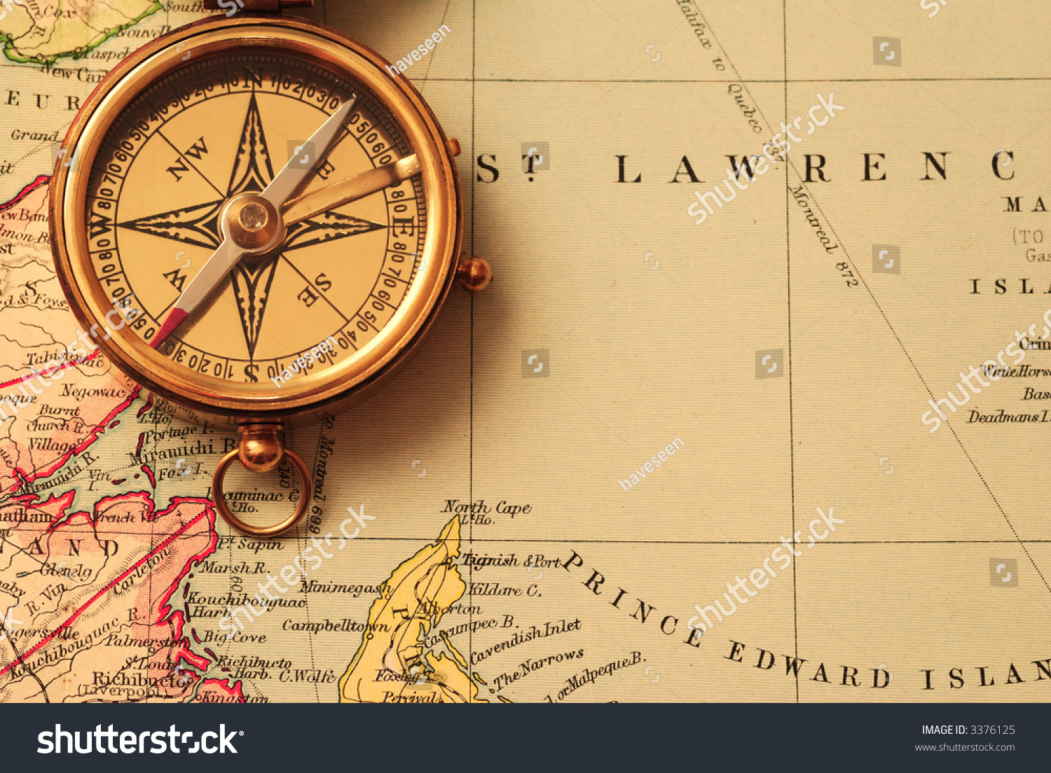 Old Fashioned Map Compass Picture Strawberry Rhubarb Pie Clipart - Old us map background