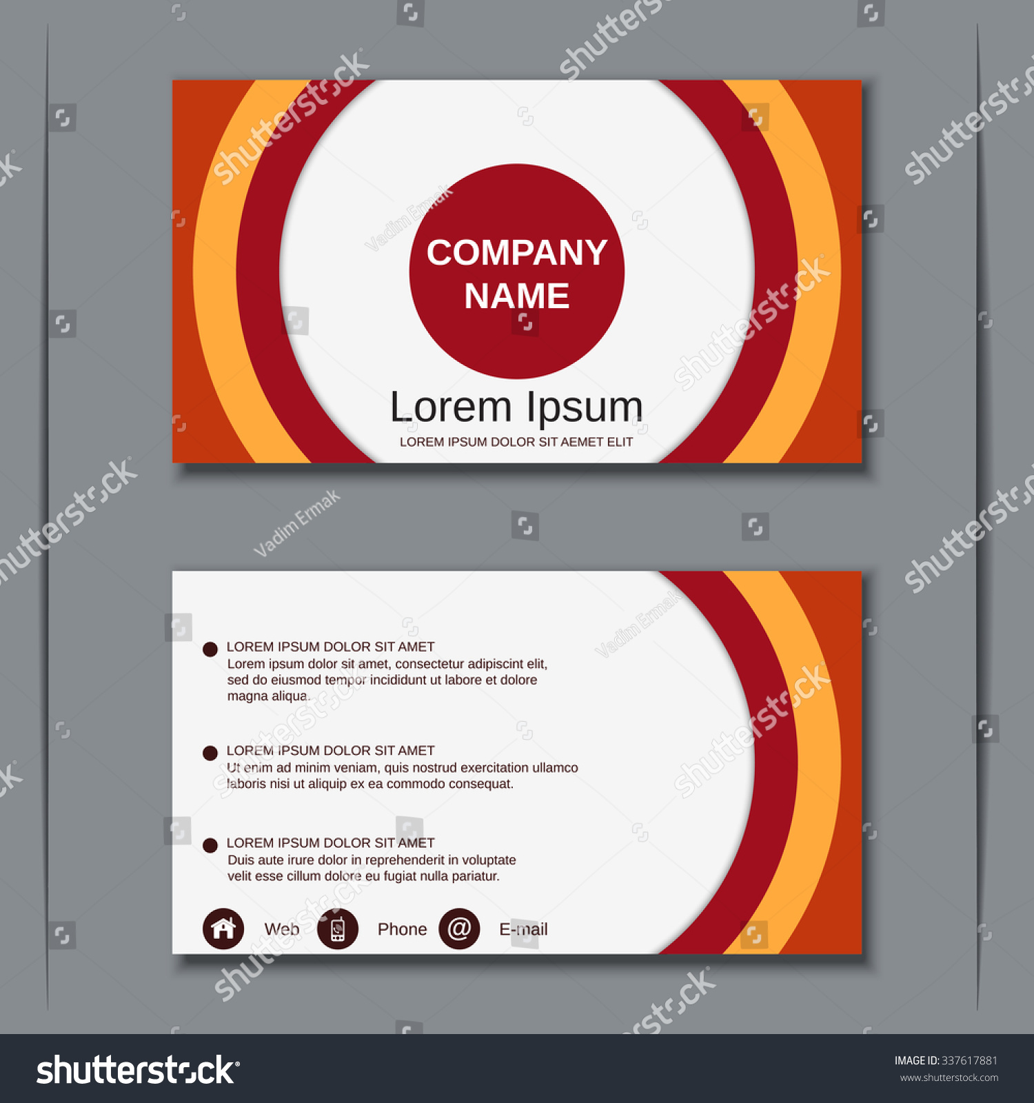 Modern Business Visiting Card Banner Badge Stock Vector