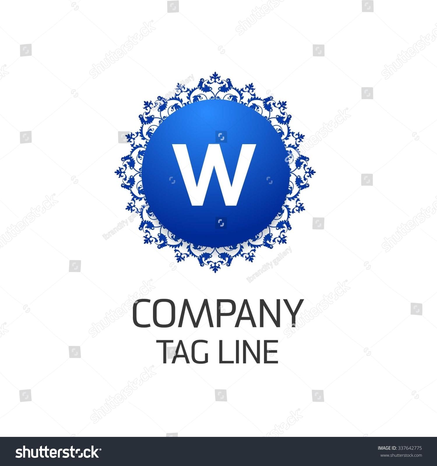 Letter logo  Mon...W Logo Design Vector