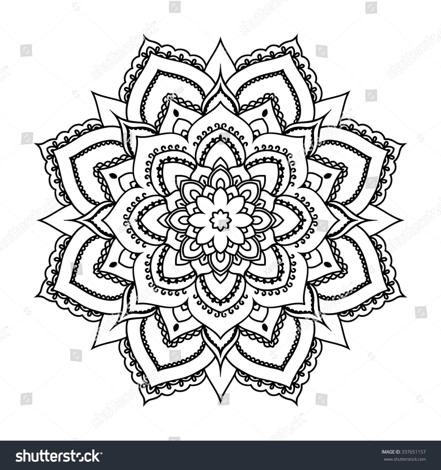 Cross mandala coloring pages