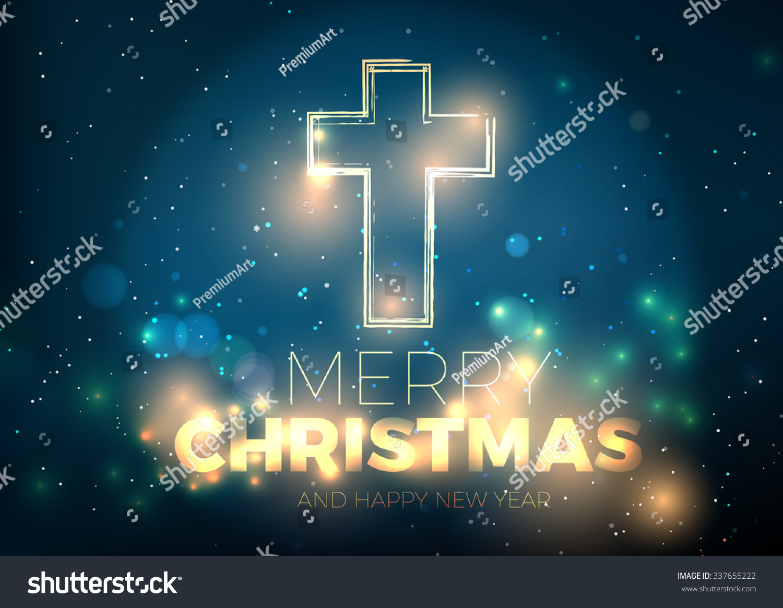 Christmas Cross Bright Christmas Background Christmas Stock Illustration 337655222