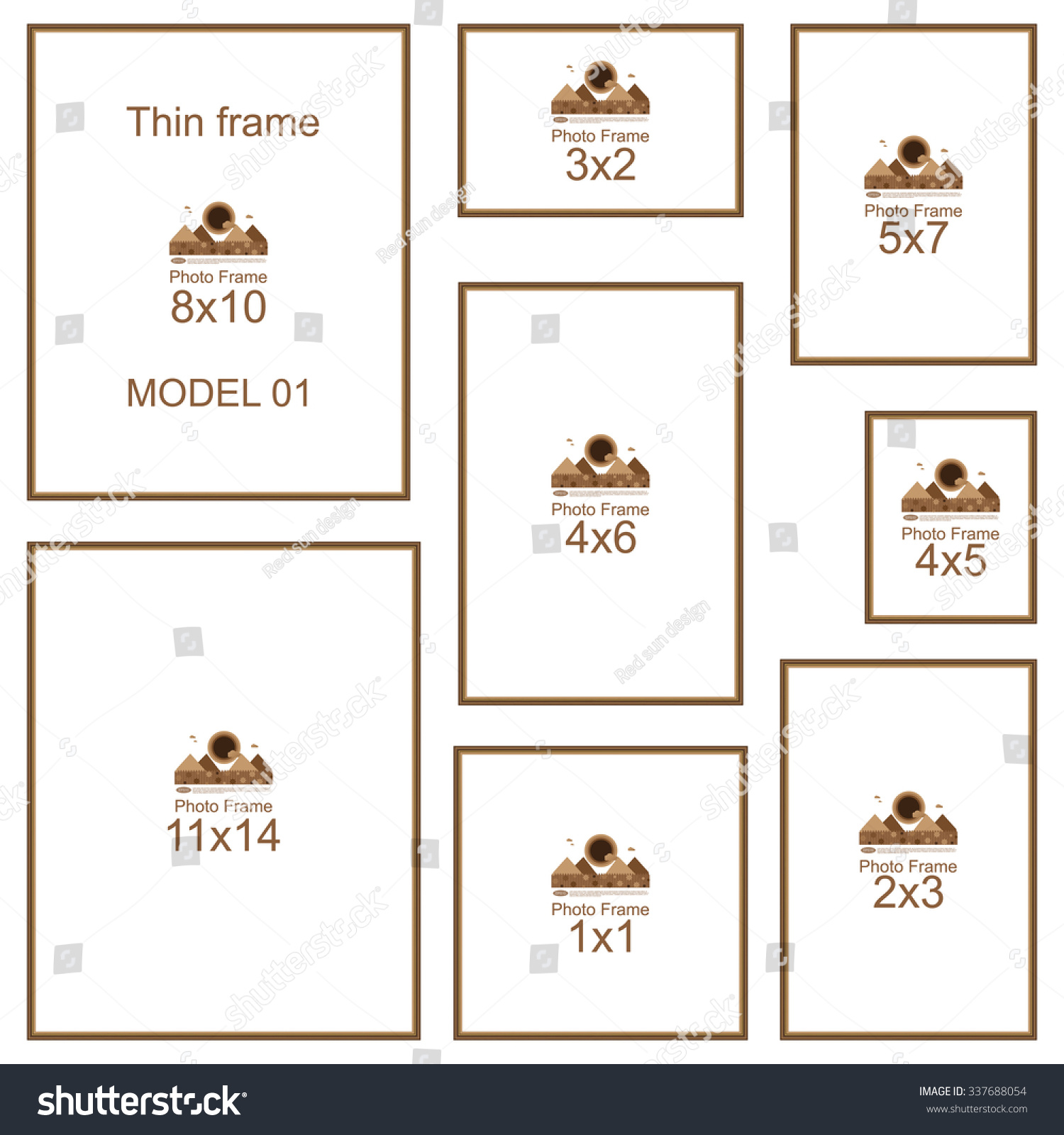 What Does Glasses Frame Size Mean : Popular Picture Frame Sizes. Wood Border. Frame For ...