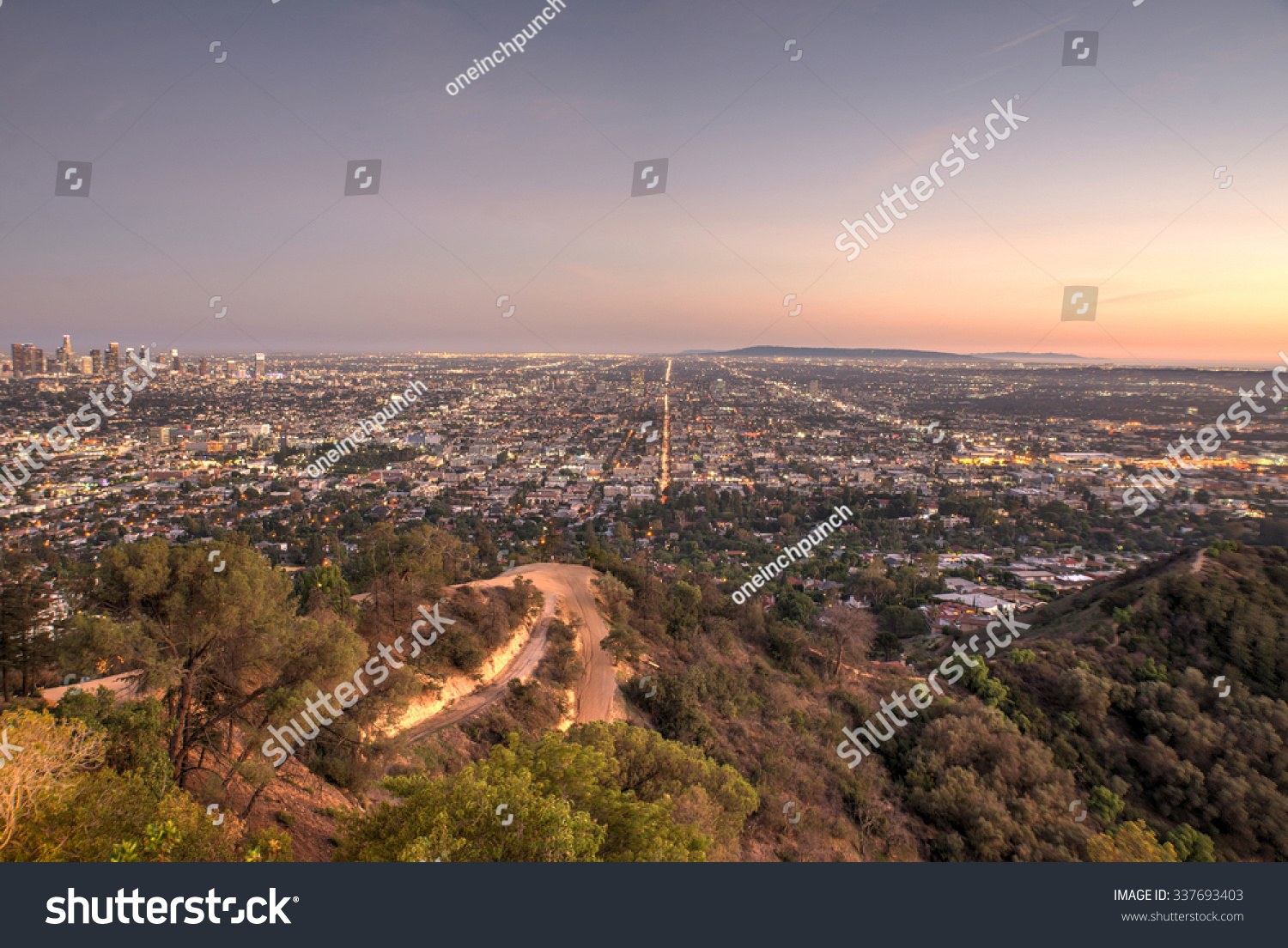 Beautiful aerial view in los angeles view from the for Beautiful in los angeles