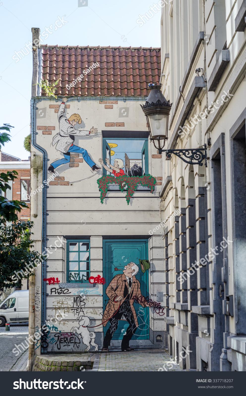 03 October 2015 Brussels Urban Graffiti Stock Photo Edit Now