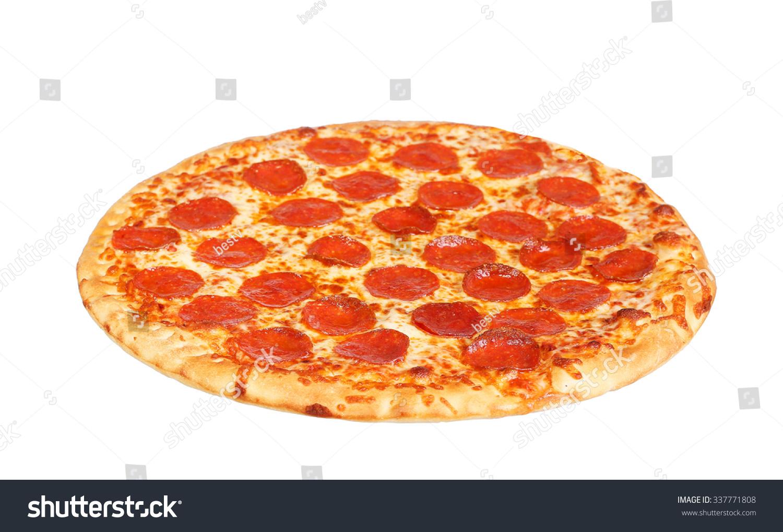 Fresh italian classic original pepperoni pizza stock photo for Pizza original