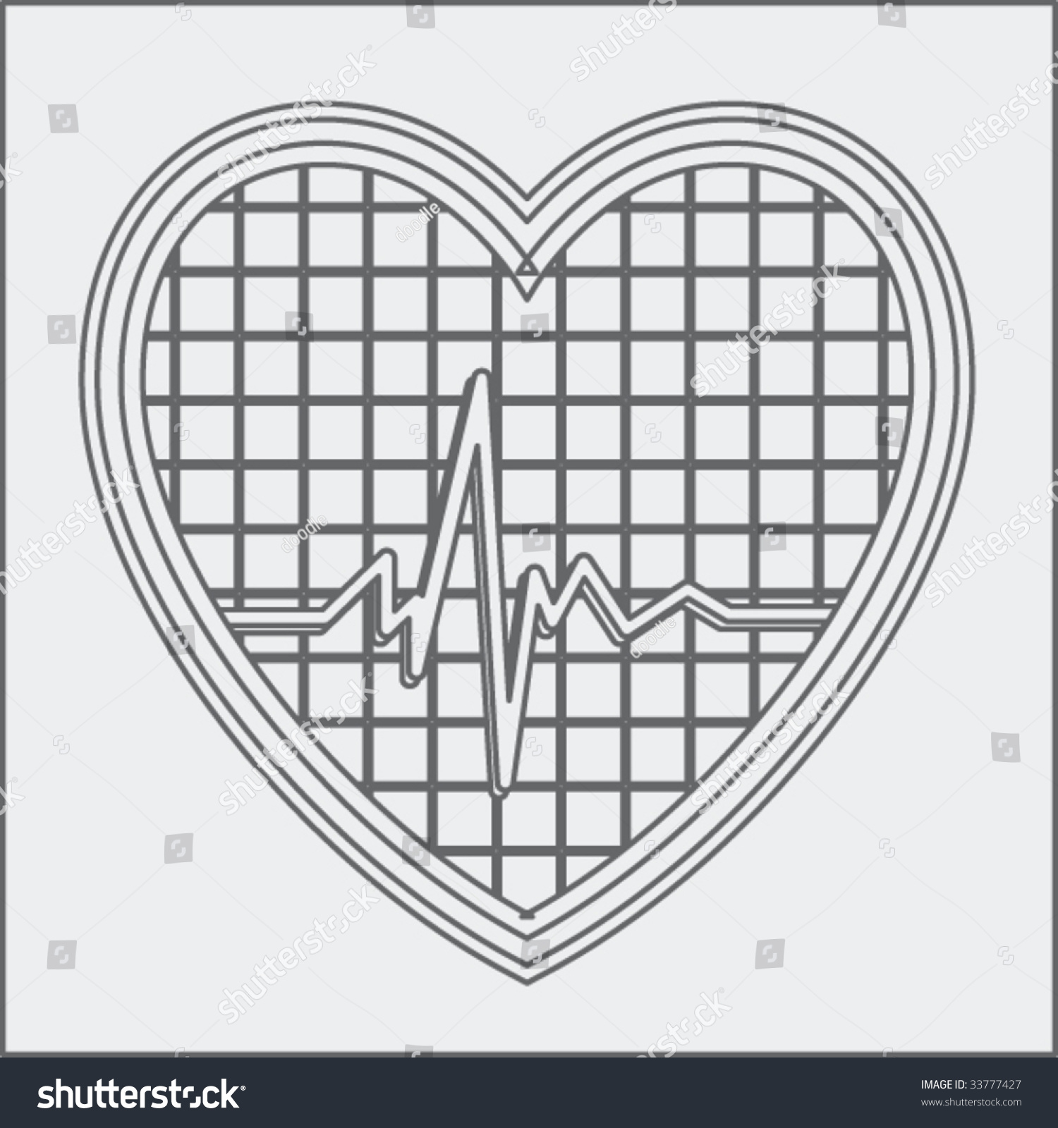 Heartbeat Drawing Stock Vector Royalty Free 33777427 Shutterstock