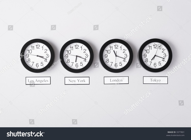 Timezone Clocks Stock Photo 3377801 - Shutterstock