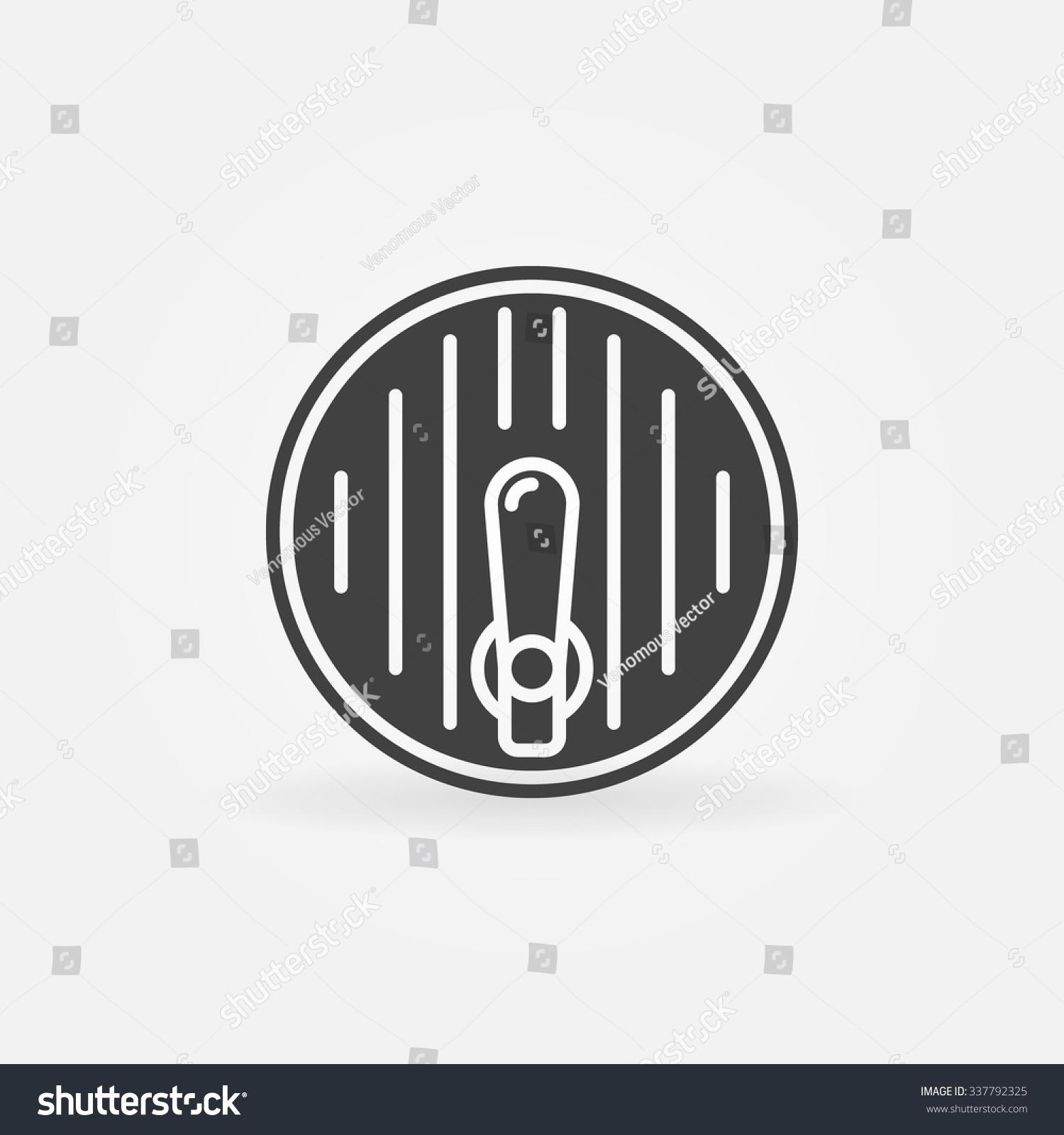 Beer Barrel Beer Tap Icon Vector Stock Vector 337792325 - Shutterstock