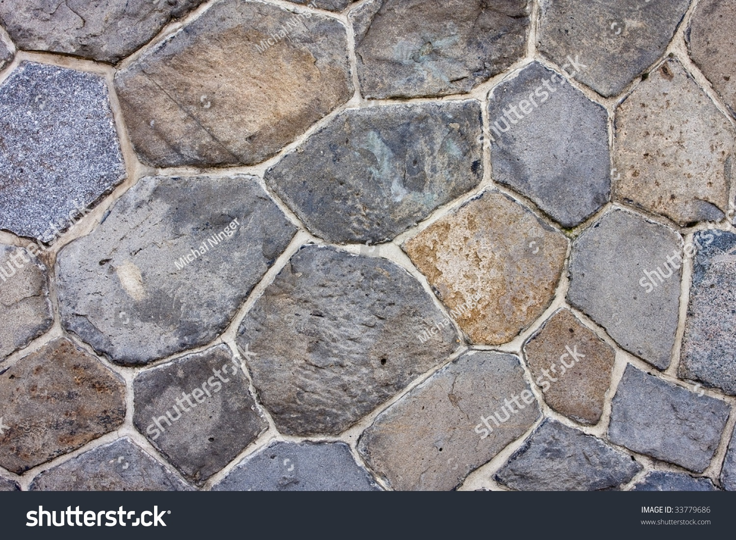 stone wall with light line